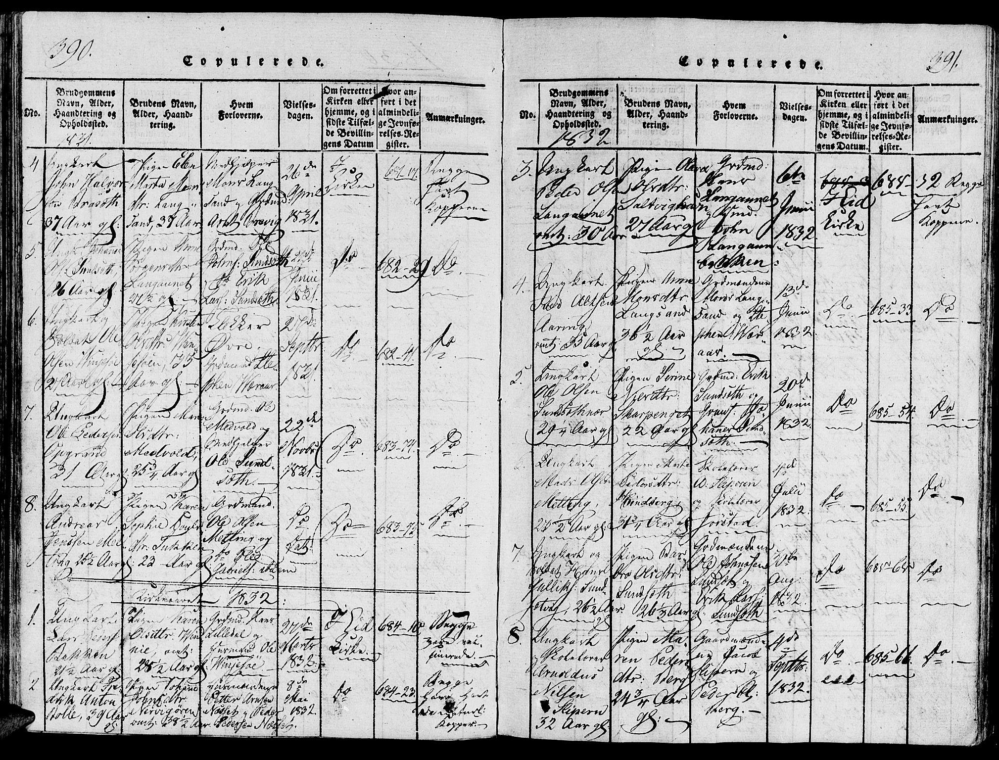 SAT, Ministerialprotokoller, klokkerbøker og fødselsregistre - Nord-Trøndelag, 733/L0322: Ministerialbok nr. 733A01, 1817-1842, s. 390-391
