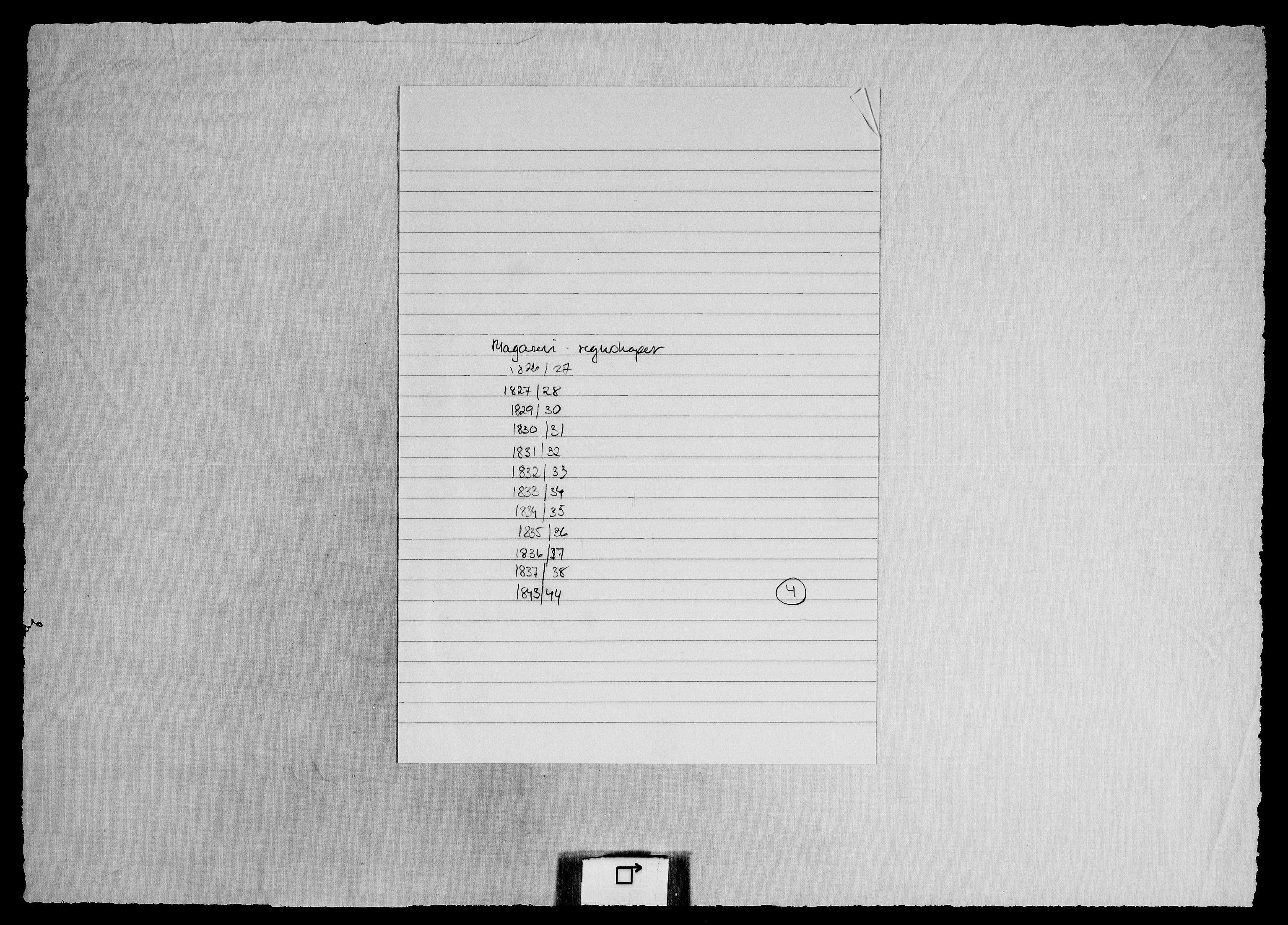 RA, Modums Blaafarveværk, G/Gd/Gdd/L0301, 1822-1849, s. 2