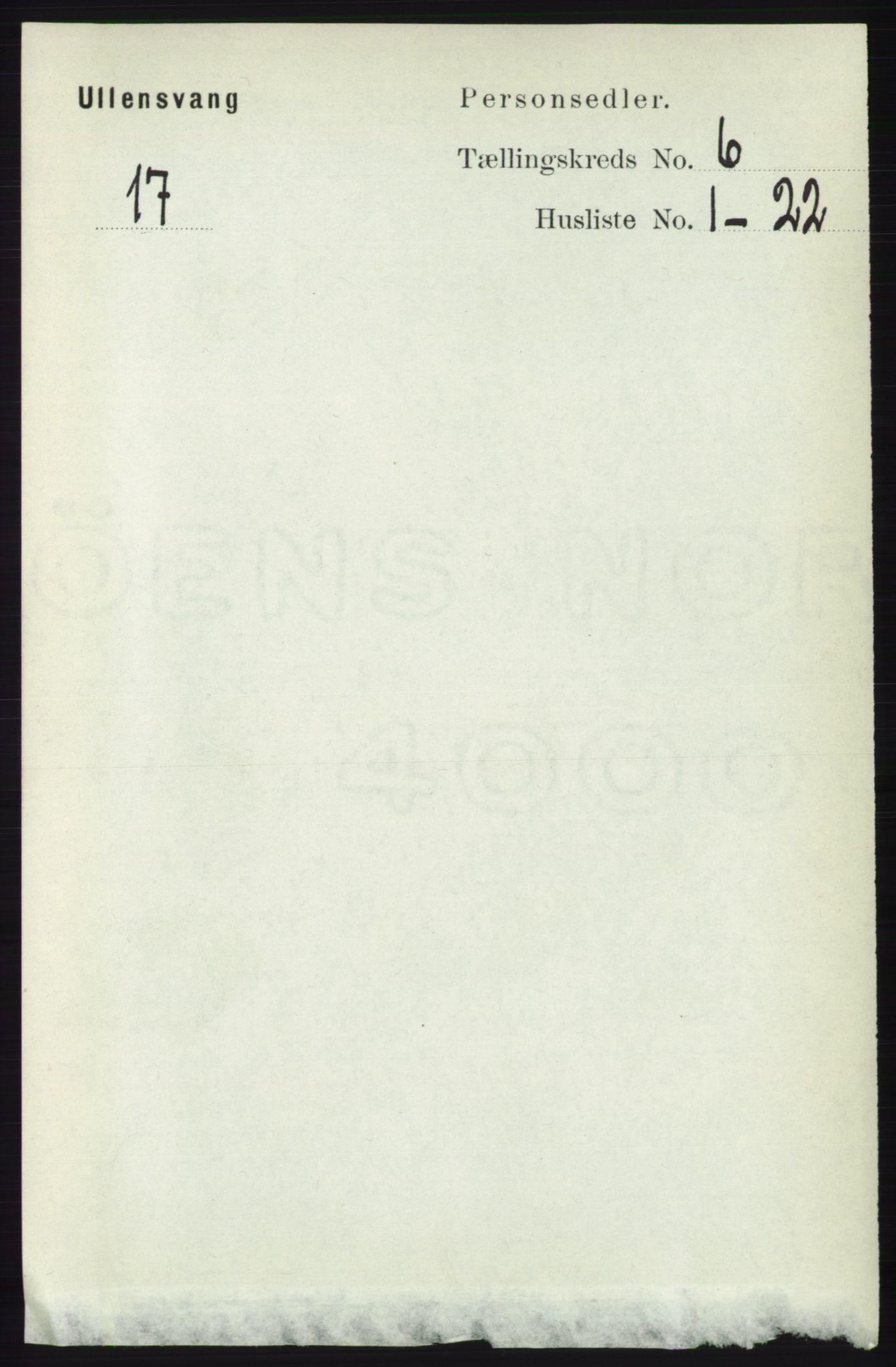 RA, Folketelling 1891 for 1230 Ullensvang herred, 1891, s. 1907