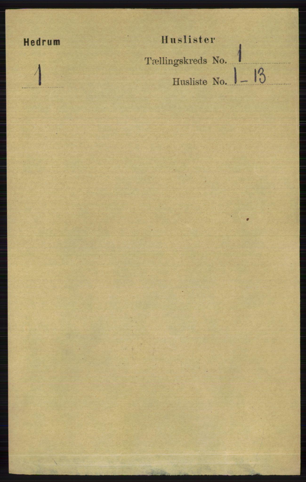 RA, Folketelling 1891 for 0727 Hedrum herred, 1891, s. 29