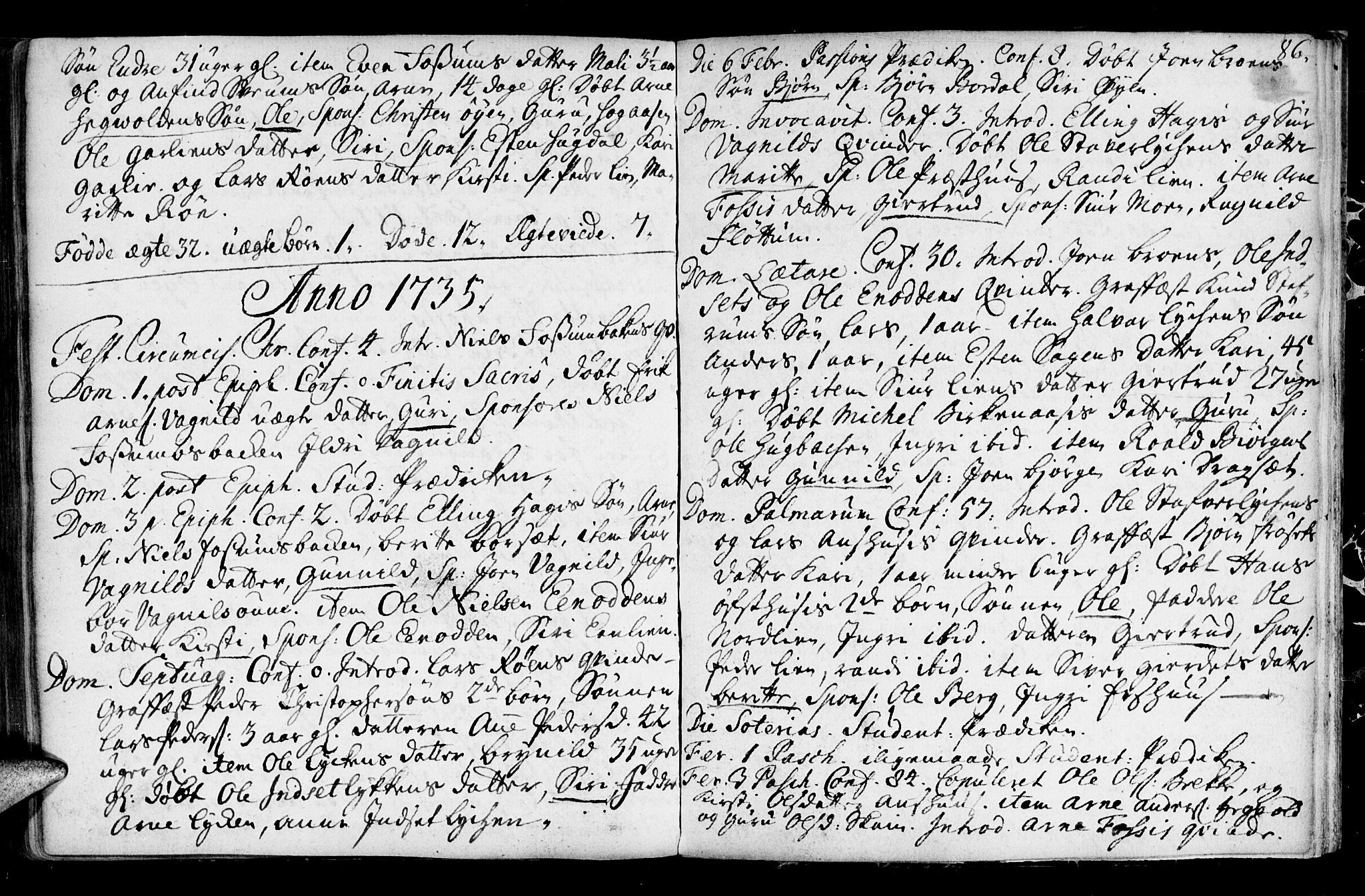 SAT, Ministerialprotokoller, klokkerbøker og fødselsregistre - Sør-Trøndelag, 689/L1036: Ministerialbok nr. 689A01, 1696-1746, s. 86