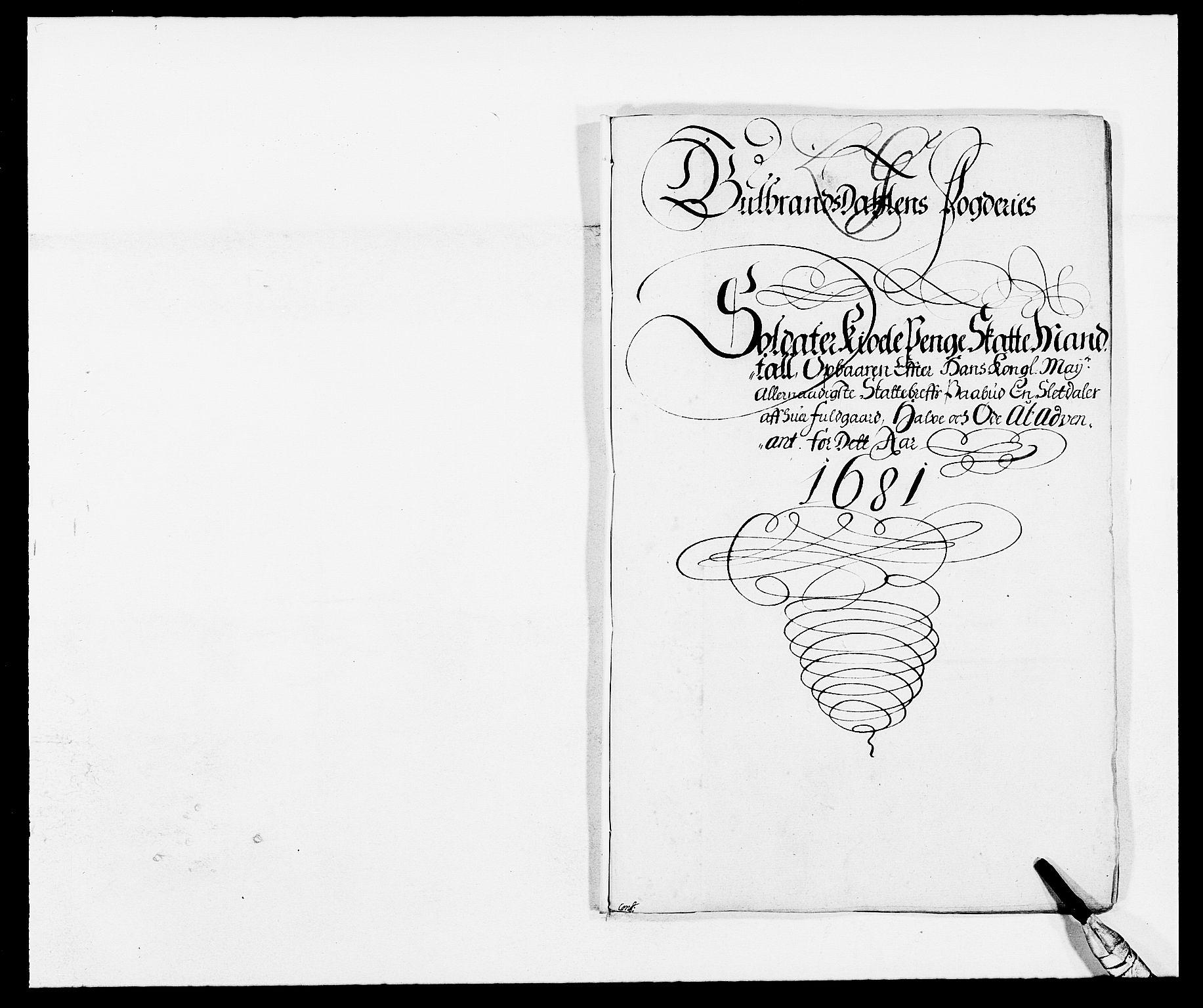 RA, Rentekammeret inntil 1814, Reviderte regnskaper, Fogderegnskap, R17/L1156: Fogderegnskap Gudbrandsdal, 1681, s. 95