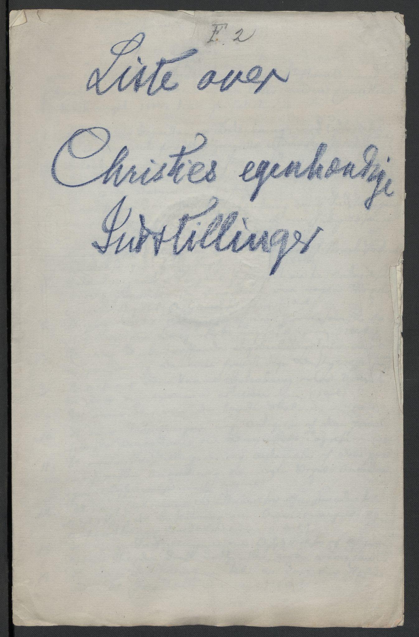 RA, Christie, Wilhelm Frimann Koren, F/L0006, 1817-1818, s. 252
