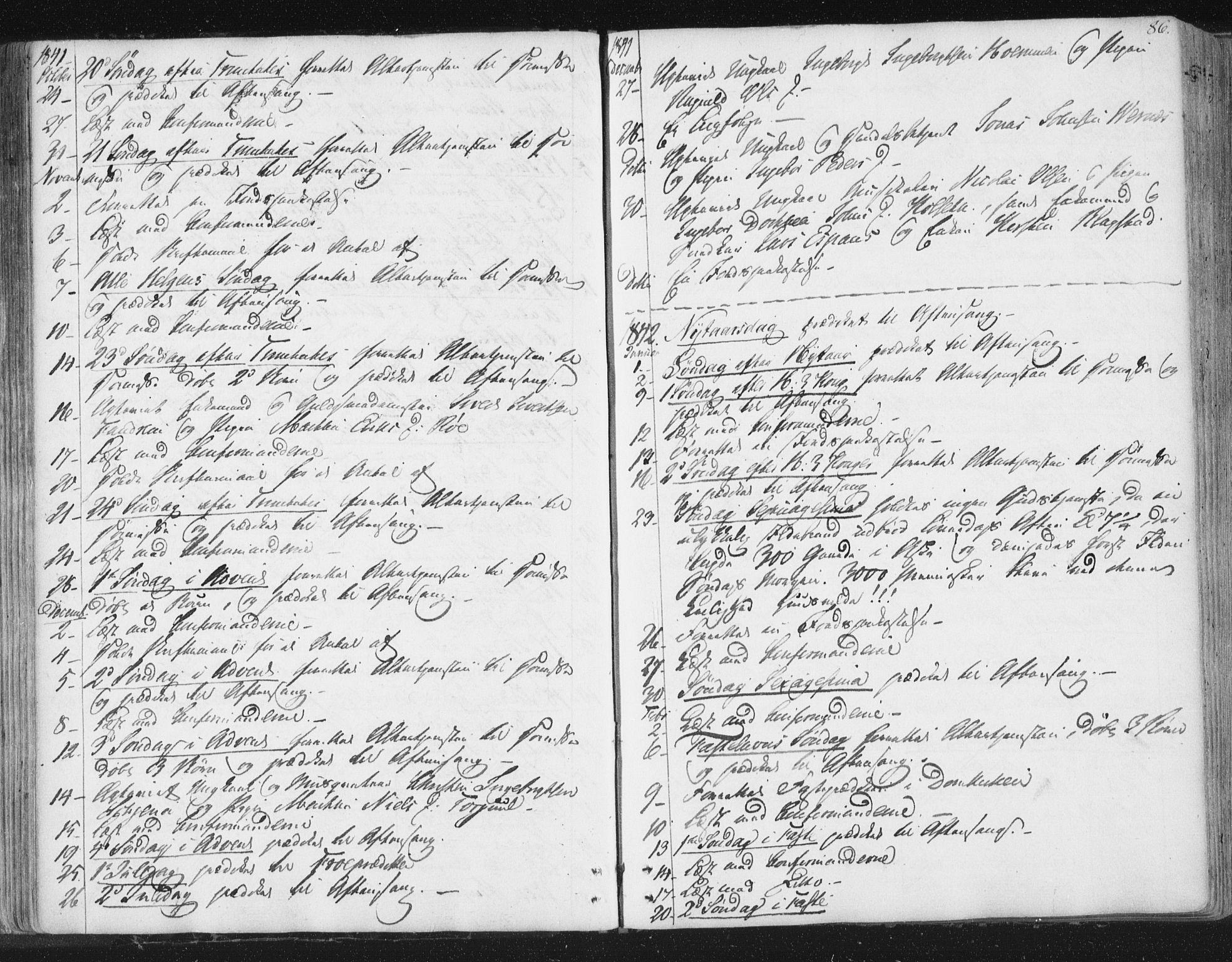 SAT, Ministerialprotokoller, klokkerbøker og fødselsregistre - Sør-Trøndelag, 602/L0127: Residerende kapellans bok nr. 602B01, 1821-1875, s. 86