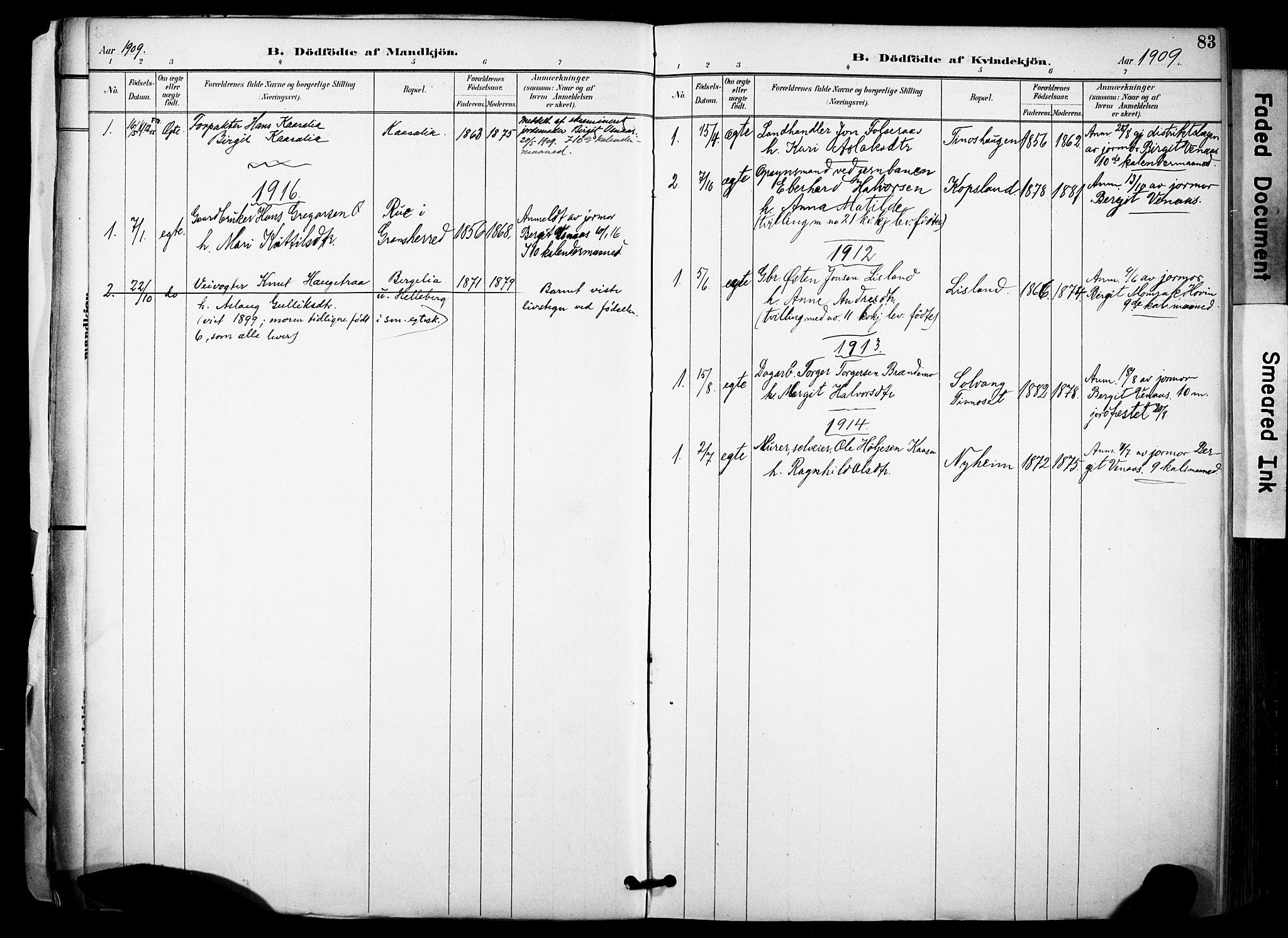 SAKO, Gransherad kirkebøker, F/Fa/L0005: Ministerialbok nr. I 5, 1887-1916, s. 83