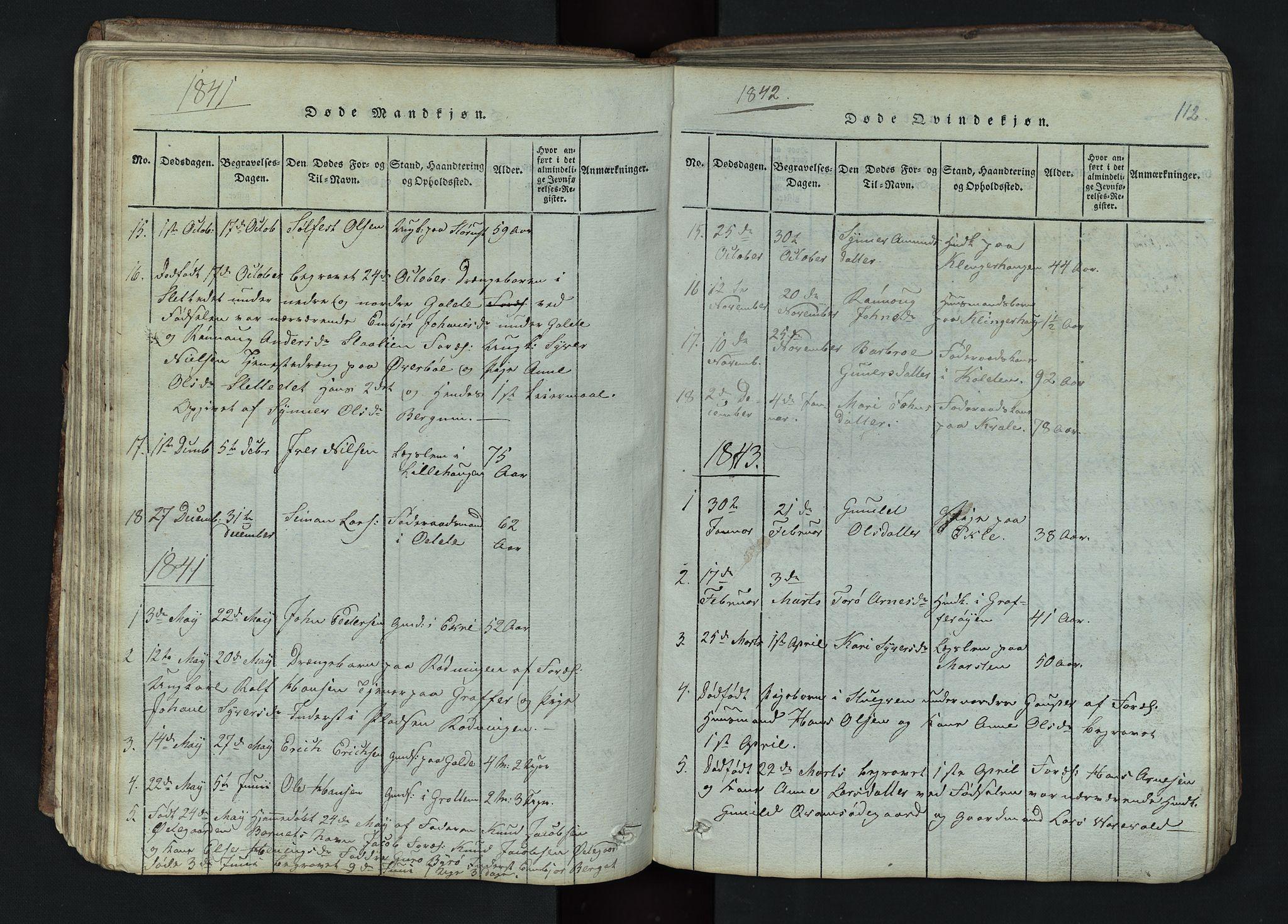 SAH, Lom prestekontor, L/L0002: Klokkerbok nr. 2, 1815-1844, s. 112