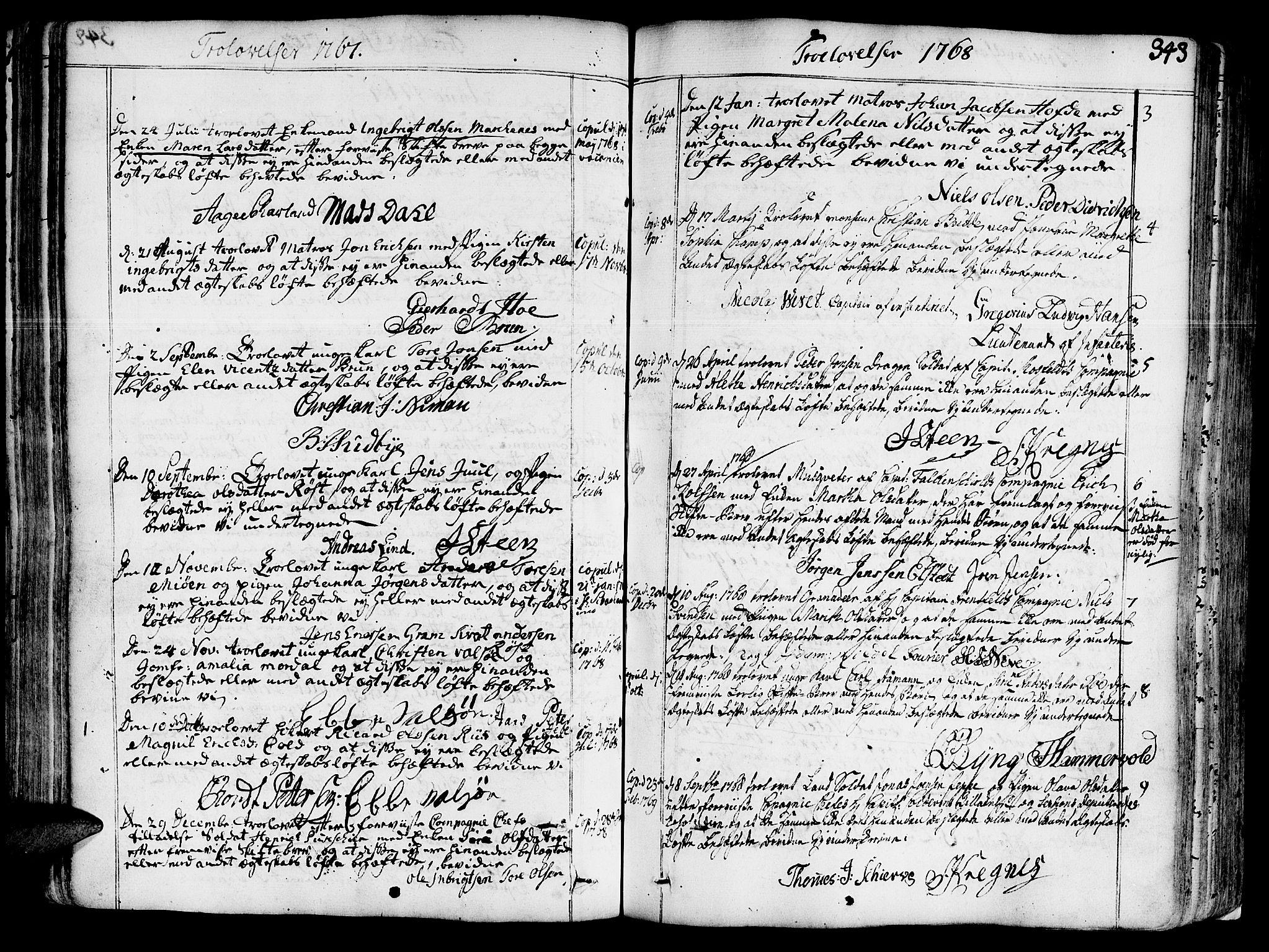 SAT, Ministerialprotokoller, klokkerbøker og fødselsregistre - Sør-Trøndelag, 602/L0103: Ministerialbok nr. 602A01, 1732-1774, s. 343