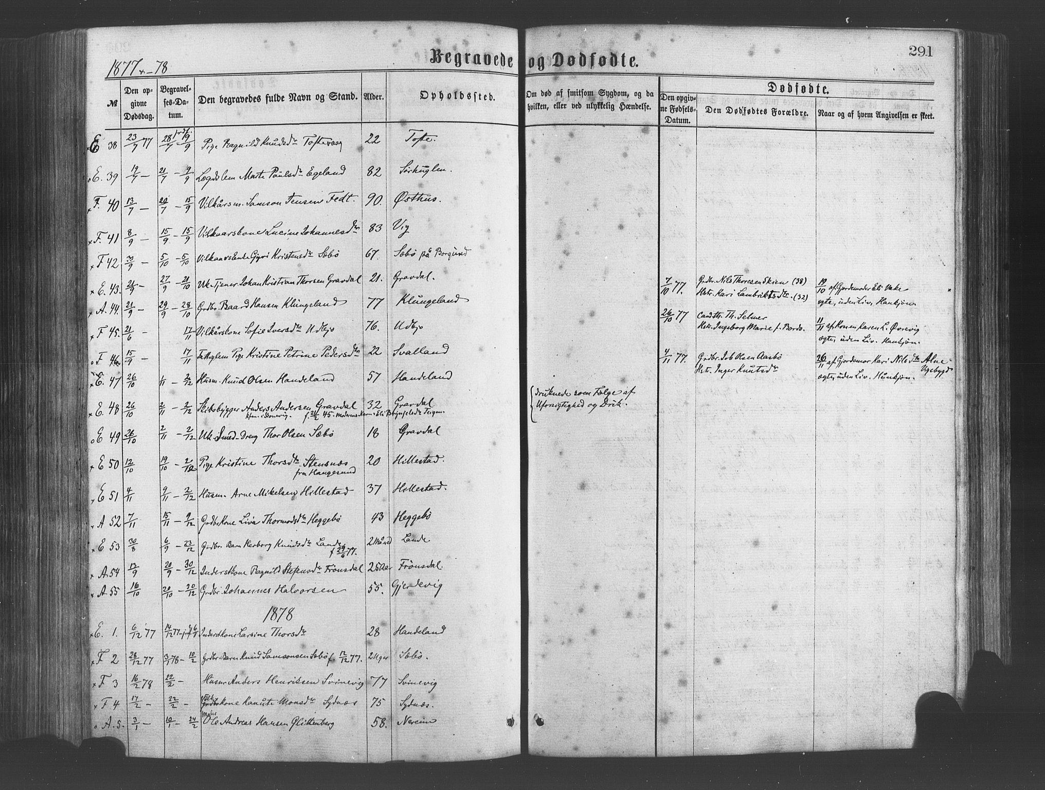 SAB, Fjelberg Sokneprestembete, H/Haa: Ministerialbok nr. A 8, 1866-1879, s. 291