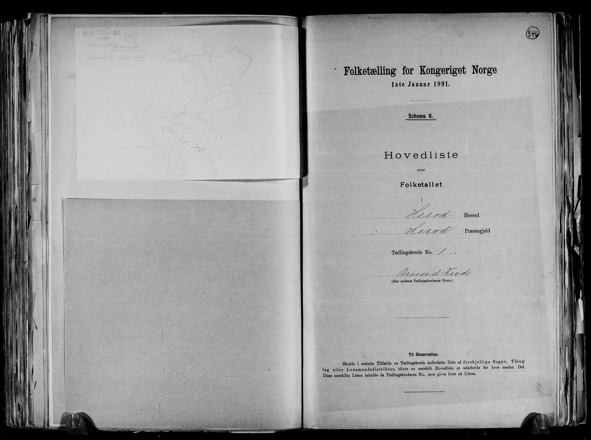 RA, Folketelling 1891 for 1039 Herad herred, 1891, s. 6