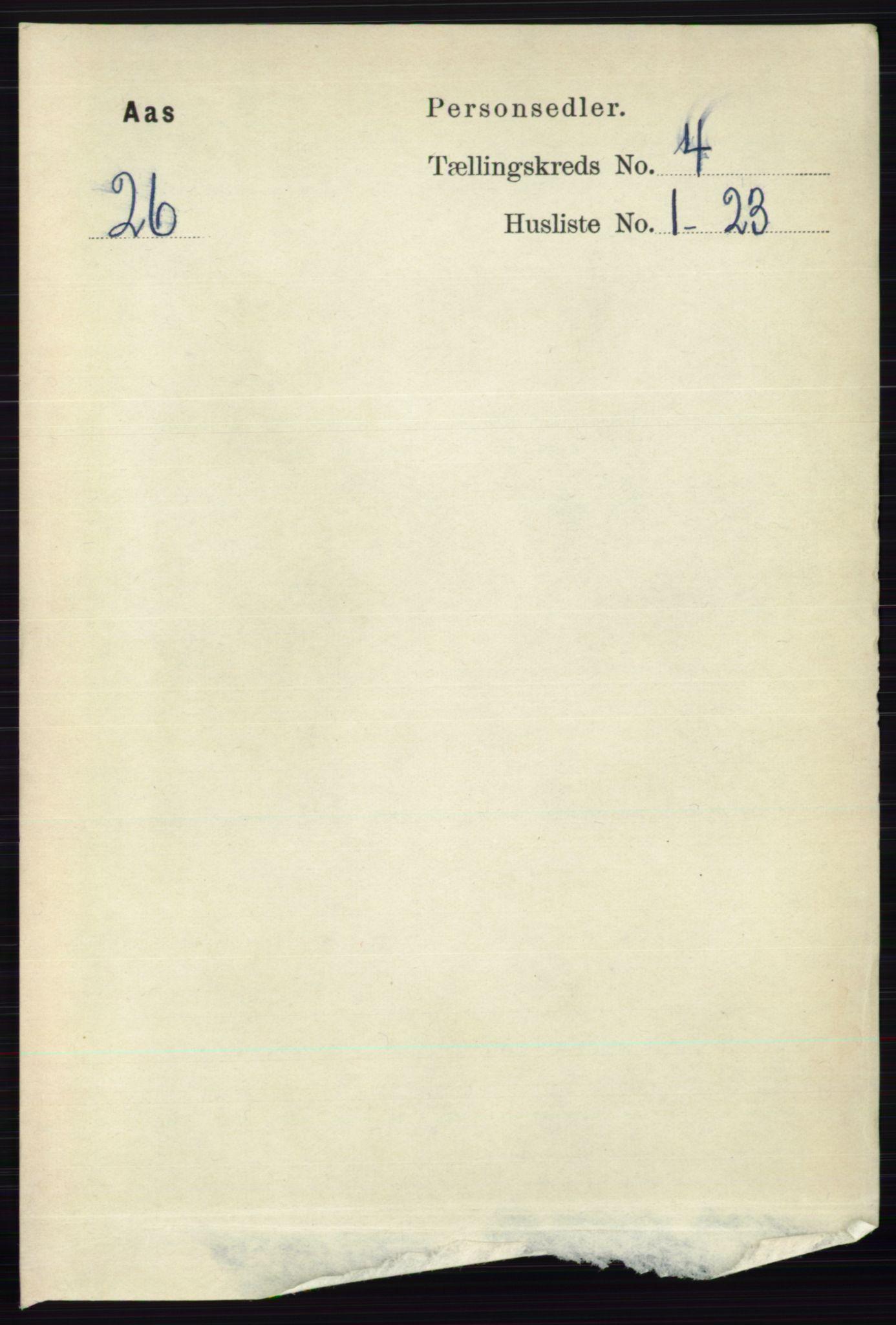 RA, Folketelling 1891 for 0214 Ås herred, 1891, s. 3044