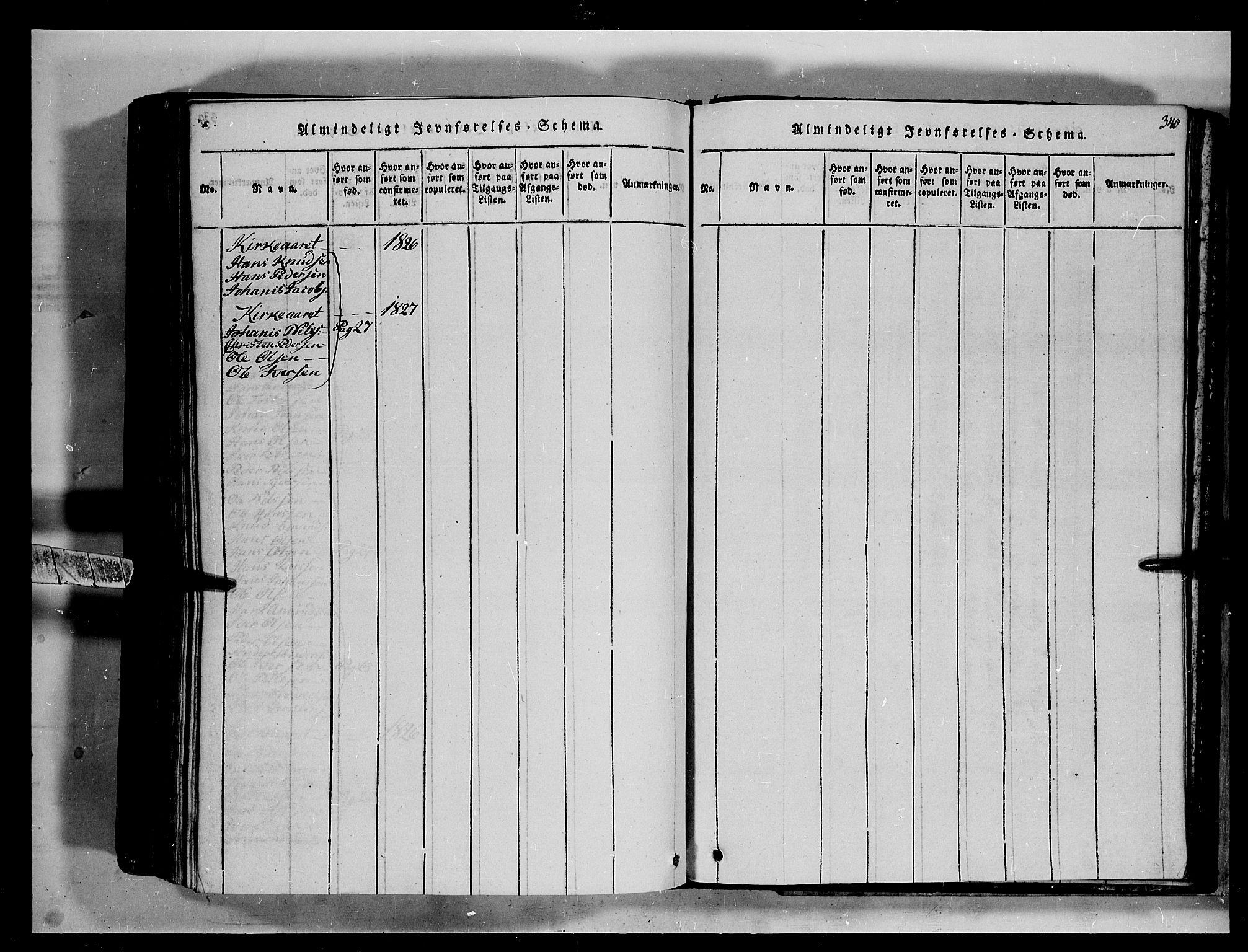 SAH, Fron prestekontor, H/Ha/Hab/L0002: Klokkerbok nr. 2, 1816-1850, s. 340