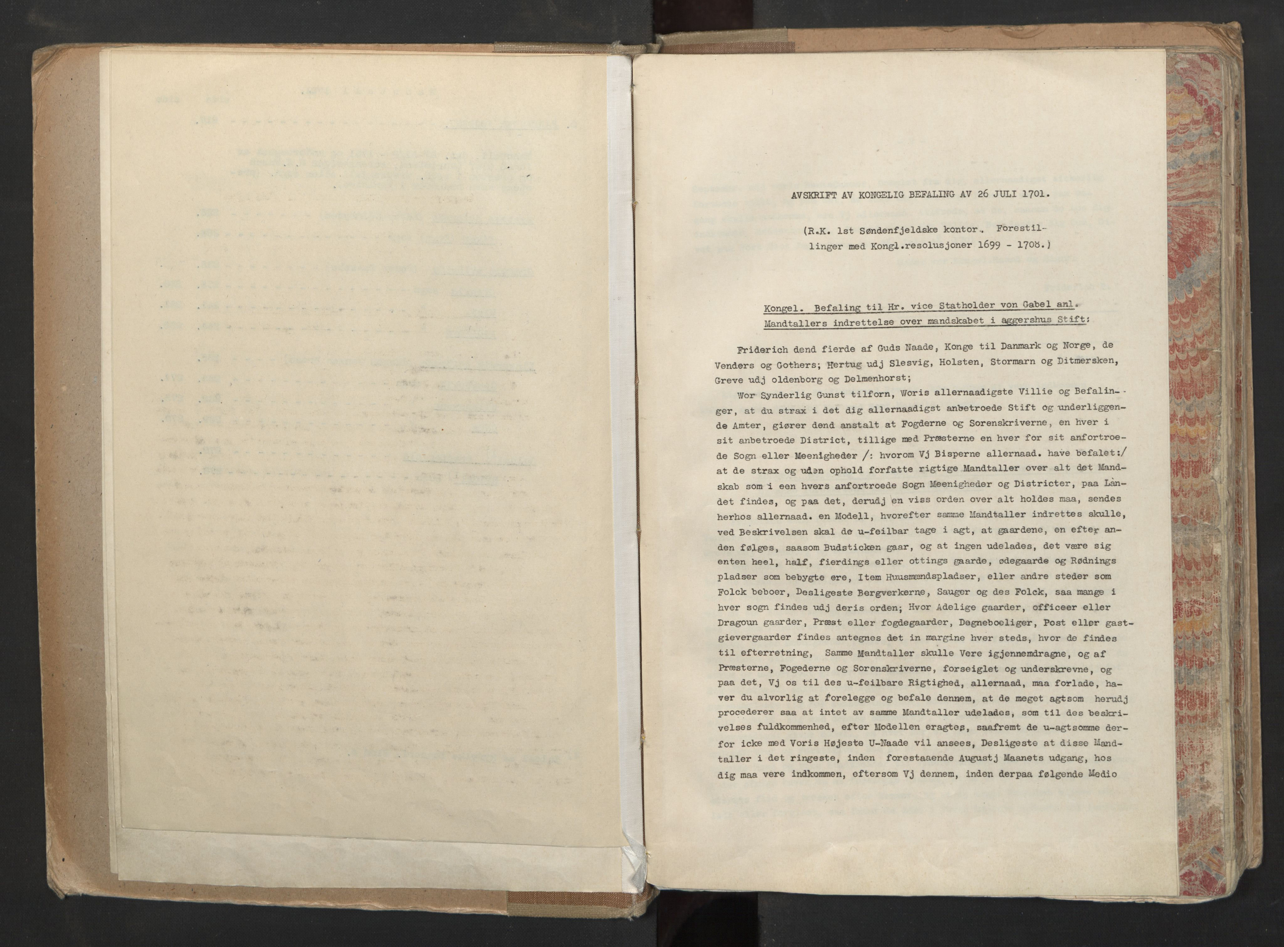 RA, Manntallet 1701, nr. 6: Sunnhordland fogderi og Hardanger fogderi, 1701, s. upaginert