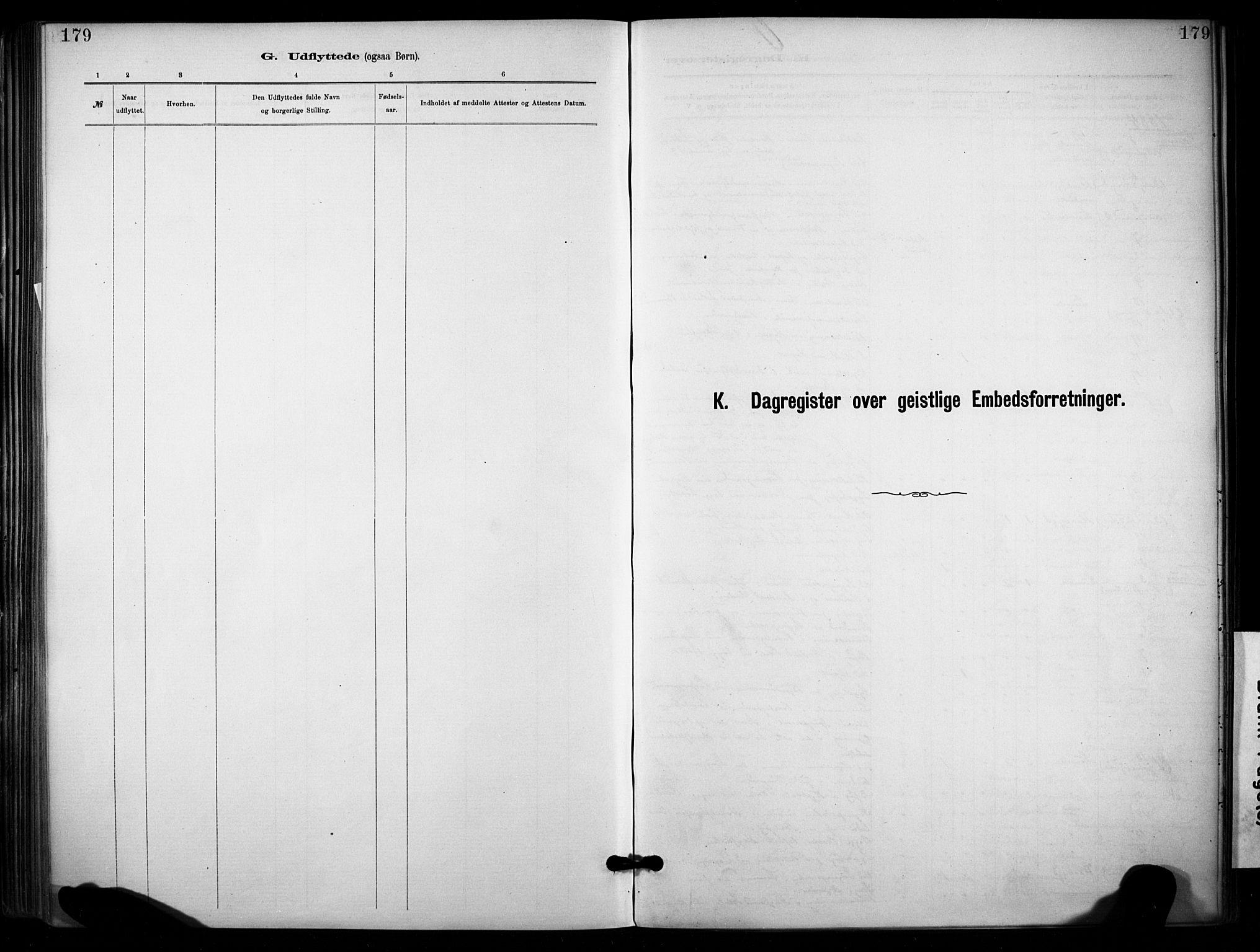 SAKO, Lunde kirkebøker, F/Fa/L0002: Ministerialbok nr. I 2, 1884-1892, s. 179