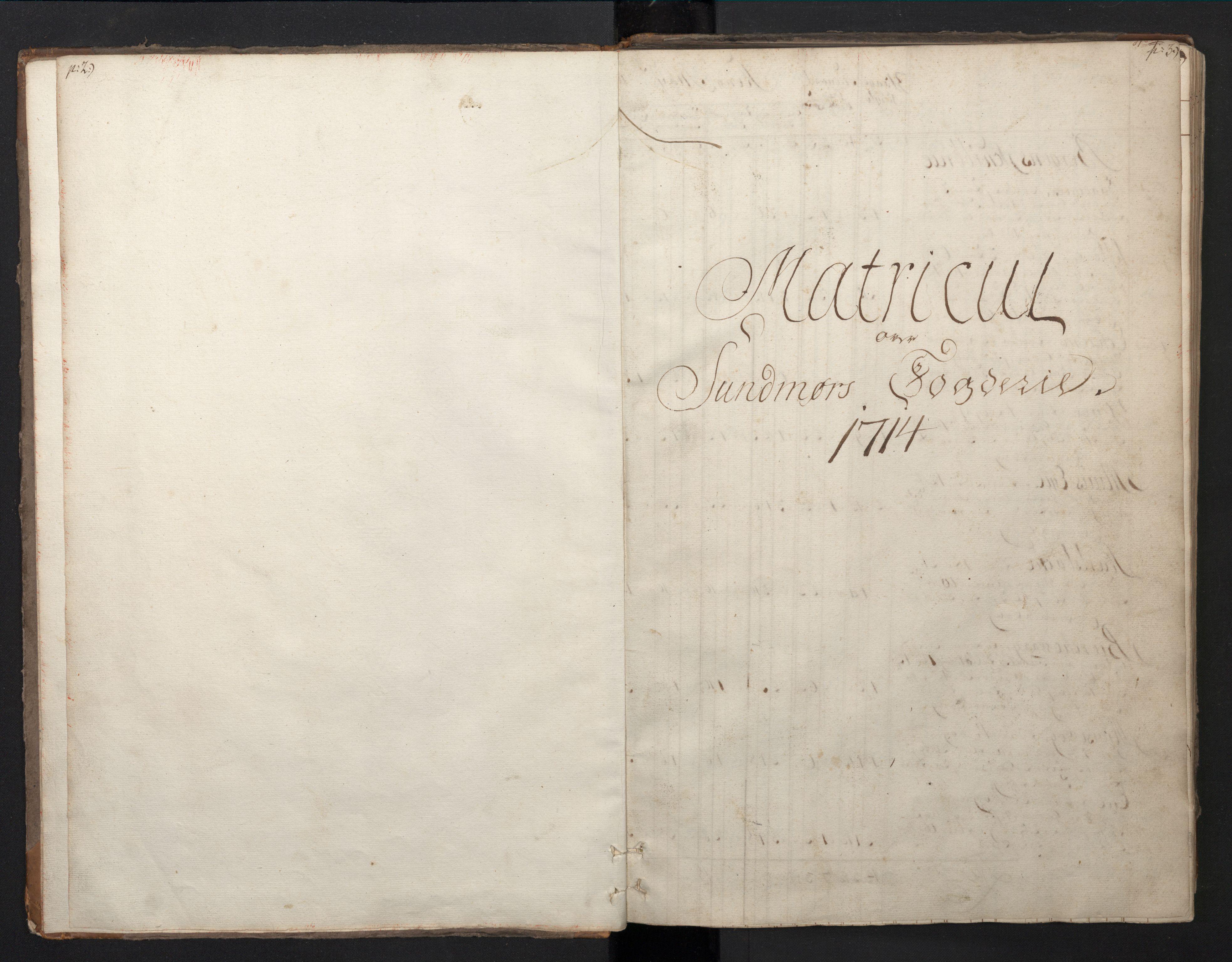 RA, Rentekammeret inntil 1814, Realistisk ordnet avdeling, N/Nb/Nbf/L0149: Sunnmøre, prøvematrikkel, 1714, s. 2-3
