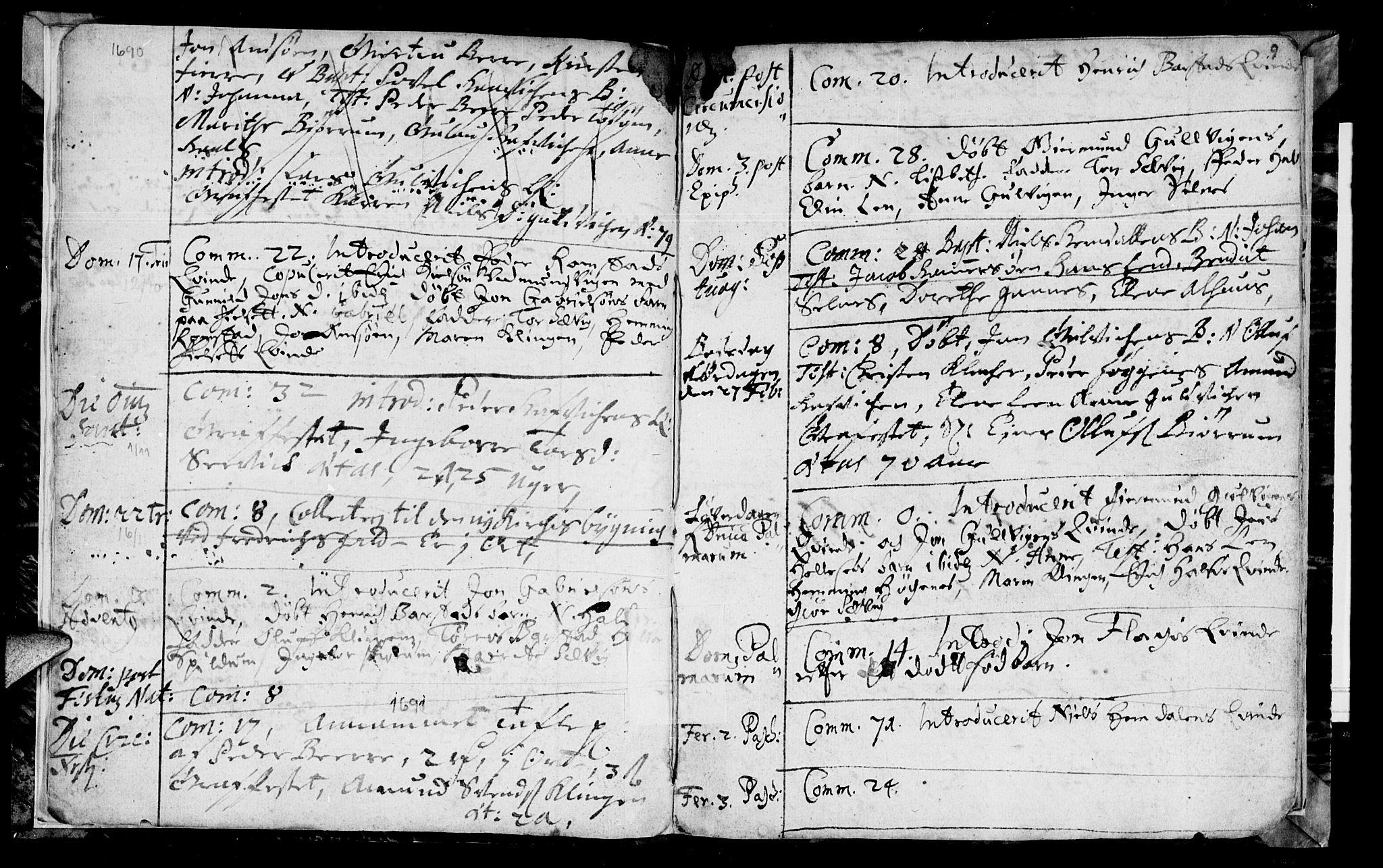 SAT, Ministerialprotokoller, klokkerbøker og fødselsregistre - Nord-Trøndelag, 770/L0587: Ministerialbok nr. 770A01, 1689-1697, s. 8-9