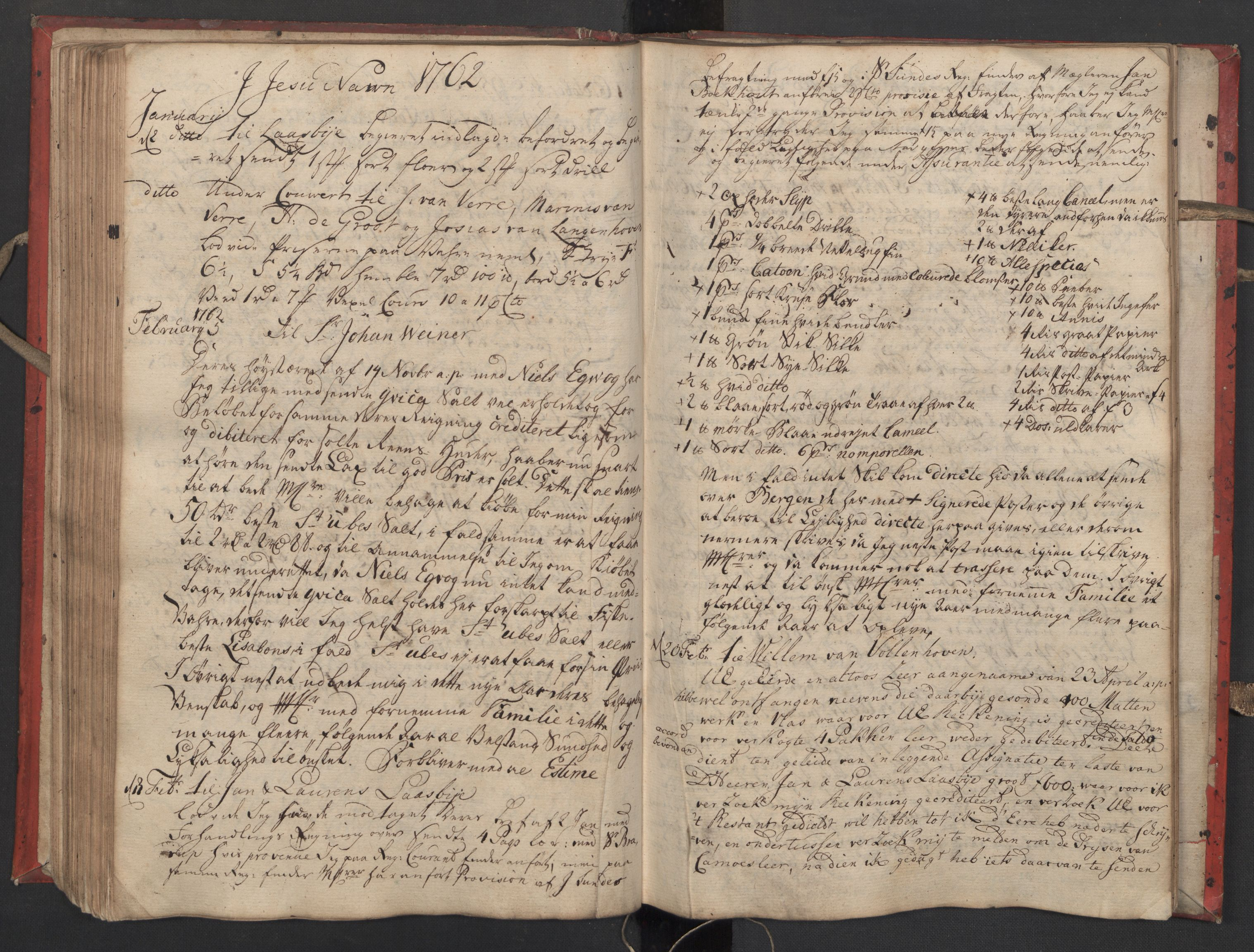 SAST, Pa 0119 - Smith, Lauritz Andersen og Lauritz Lauritzen, O/L0002: Kopibok, 1755-1766, s. 111
