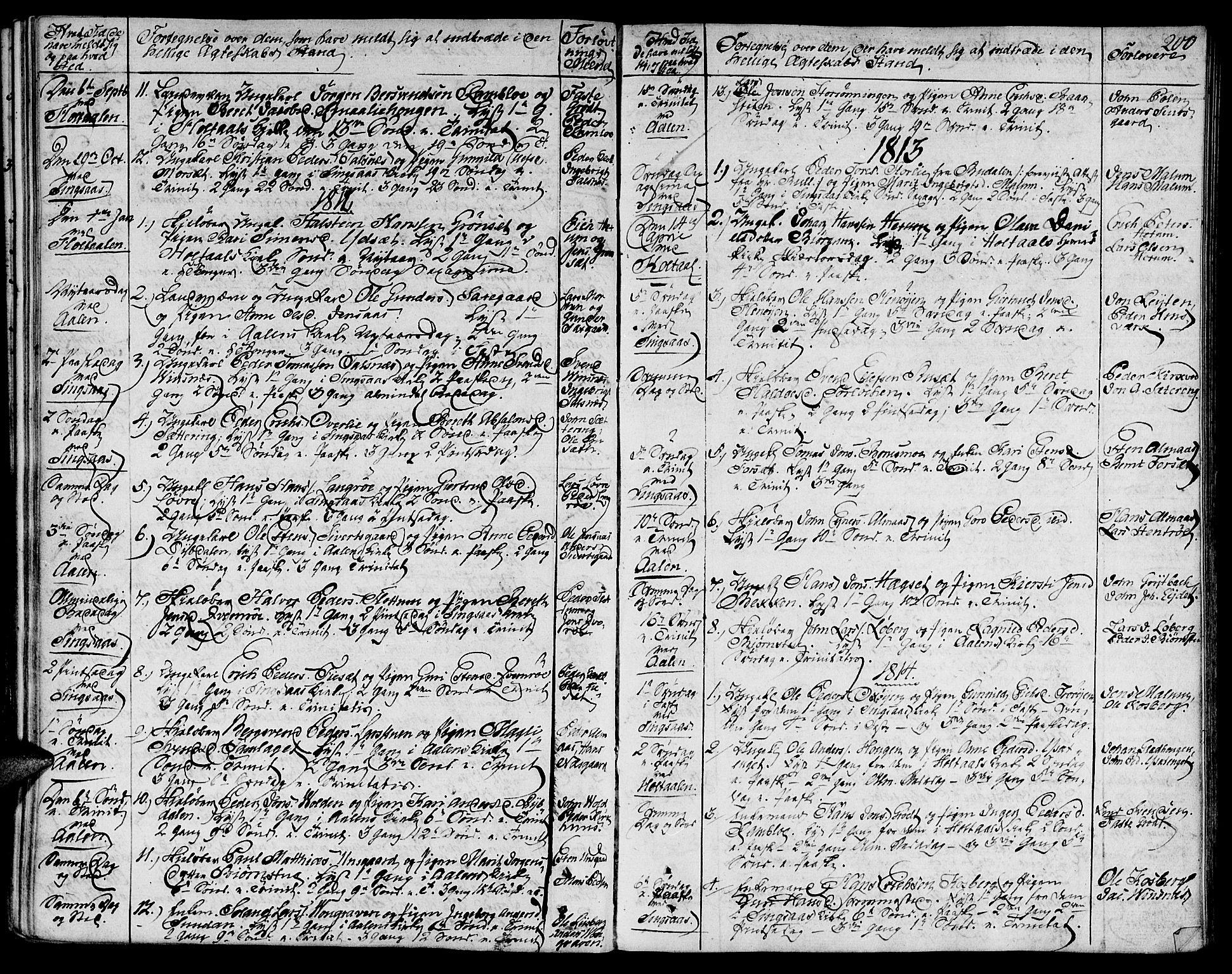 SAT, Ministerialprotokoller, klokkerbøker og fødselsregistre - Sør-Trøndelag, 685/L0953: Ministerialbok nr. 685A02, 1805-1816, s. 200