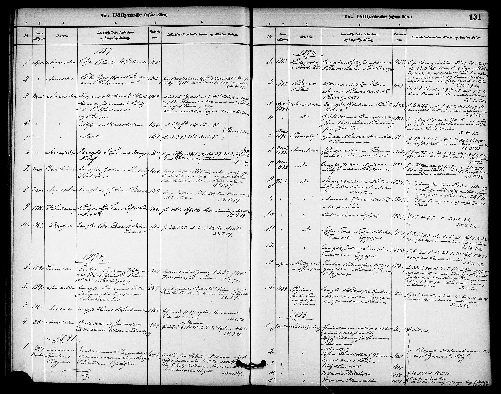 SAT, Ministerialprotokoller, klokkerbøker og fødselsregistre - Nord-Trøndelag, 740/L0378: Ministerialbok nr. 740A01, 1881-1895, s. 131