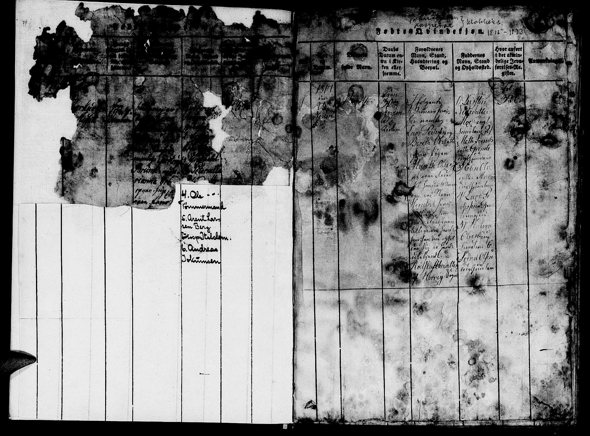 SAT, Ministerialprotokoller, klokkerbøker og fødselsregistre - Sør-Trøndelag, 623/L0478: Klokkerbok nr. 623C01, 1815-1873, s. 3