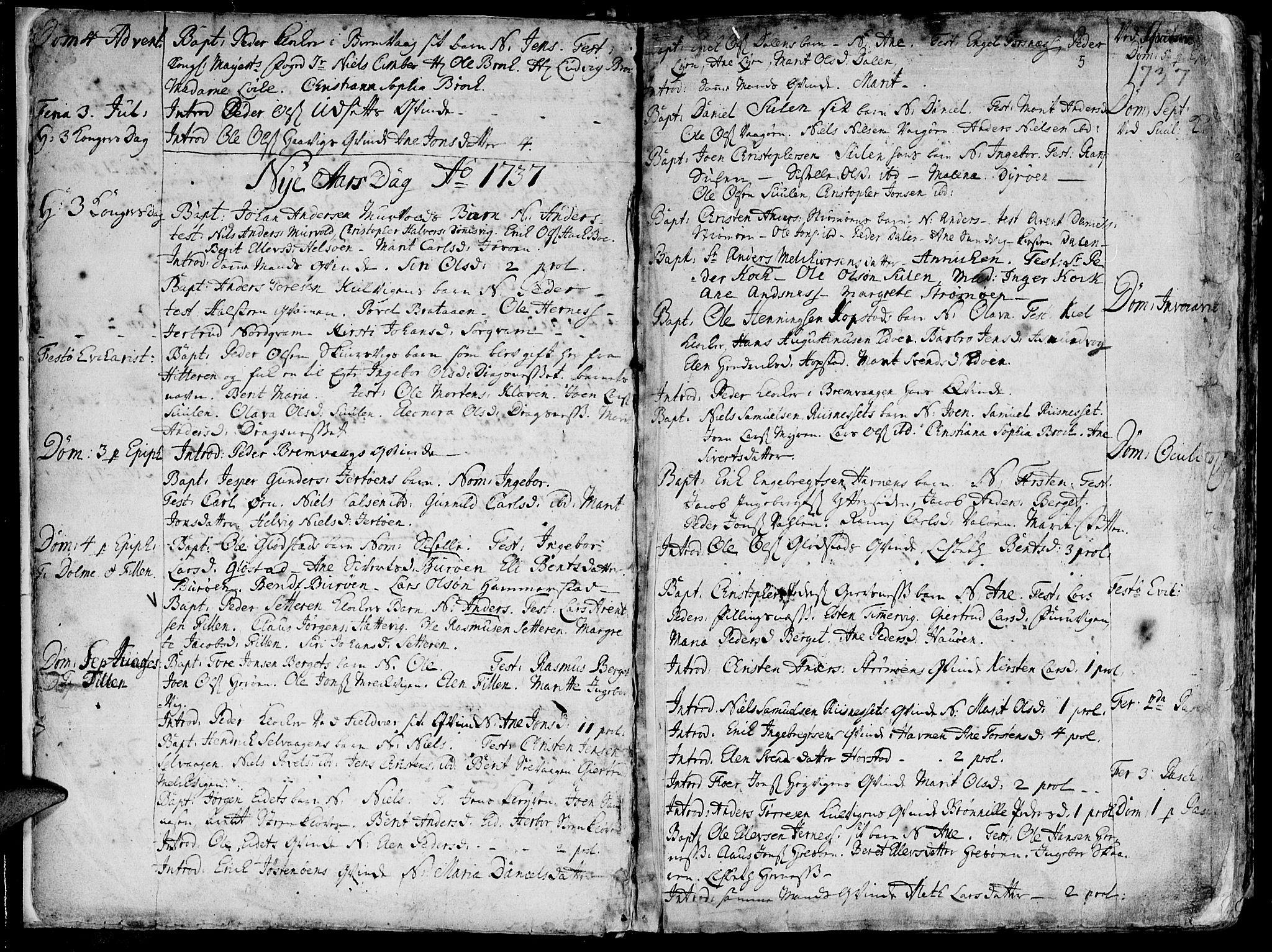 SAT, Ministerialprotokoller, klokkerbøker og fødselsregistre - Sør-Trøndelag, 634/L0525: Ministerialbok nr. 634A01, 1736-1775, s. 5