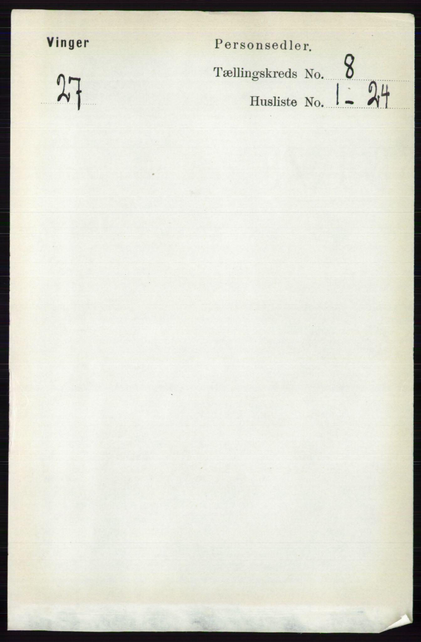 RA, Folketelling 1891 for 0421 Vinger herred, 1891, s. 3632