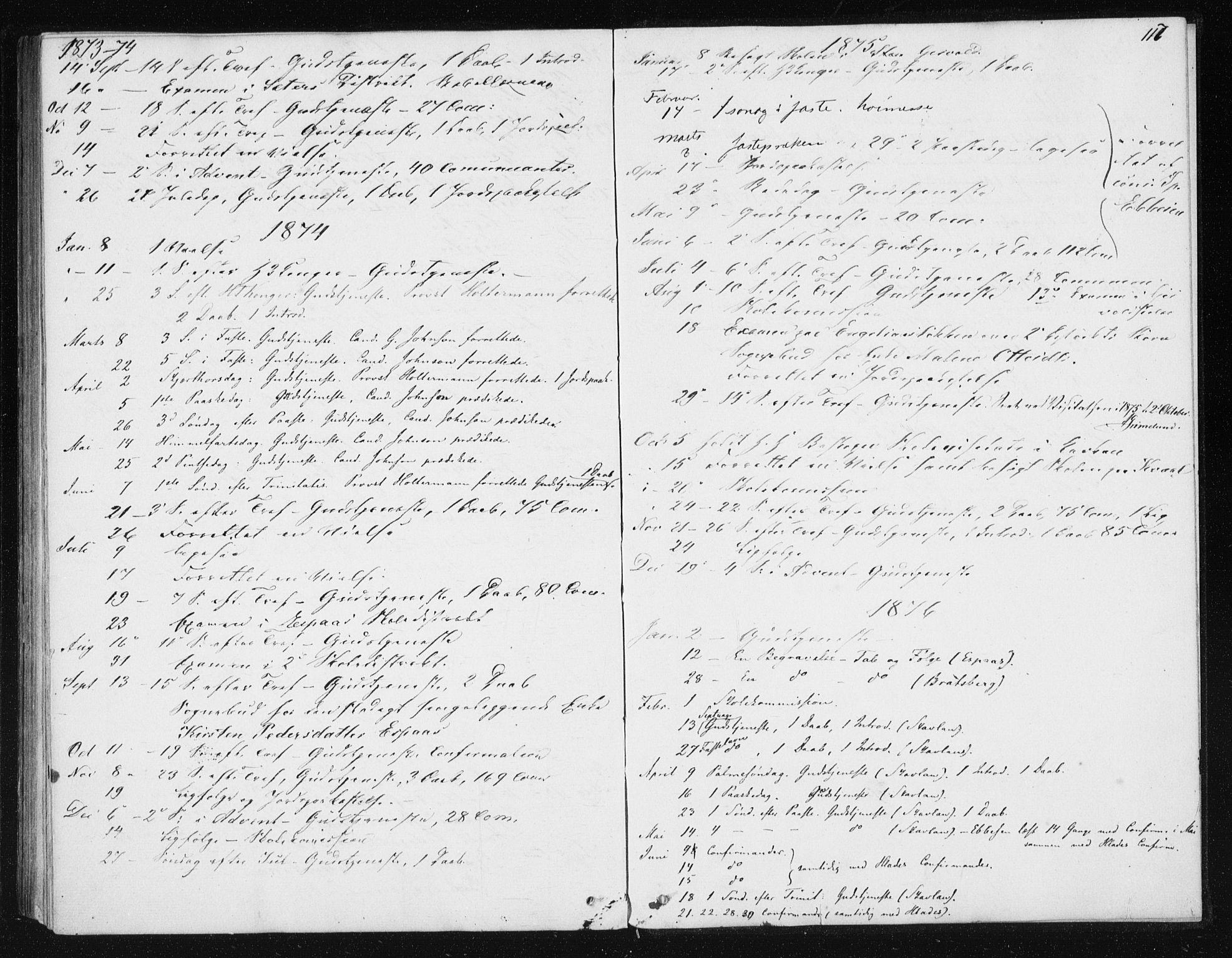 SAT, Ministerialprotokoller, klokkerbøker og fødselsregistre - Sør-Trøndelag, 608/L0333: Ministerialbok nr. 608A02, 1862-1876, s. 117