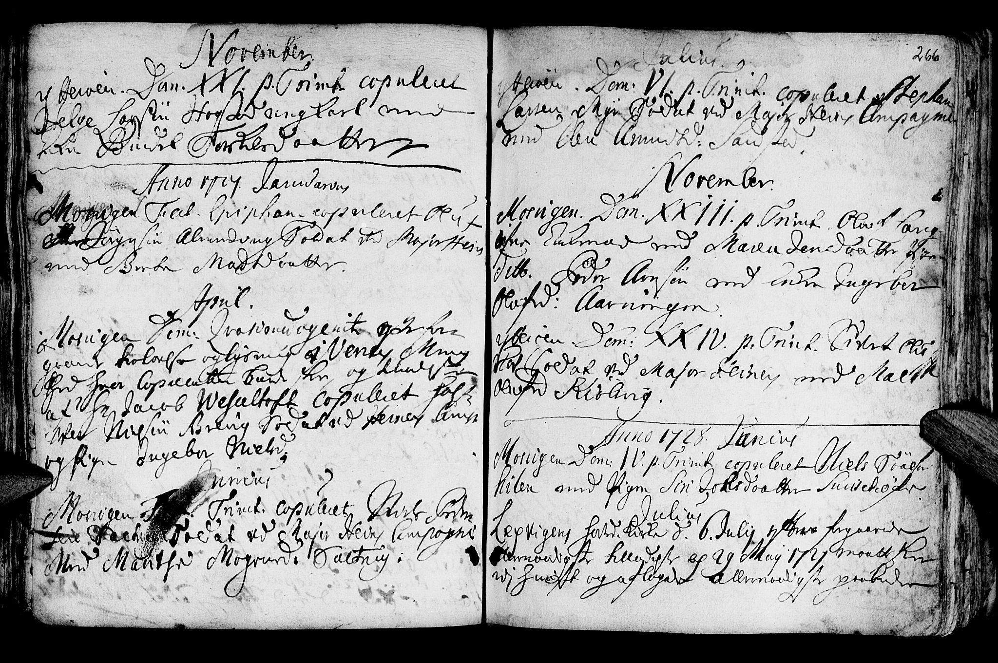 SAT, Ministerialprotokoller, klokkerbøker og fødselsregistre - Nord-Trøndelag, 722/L0215: Ministerialbok nr. 722A02, 1718-1755, s. 266