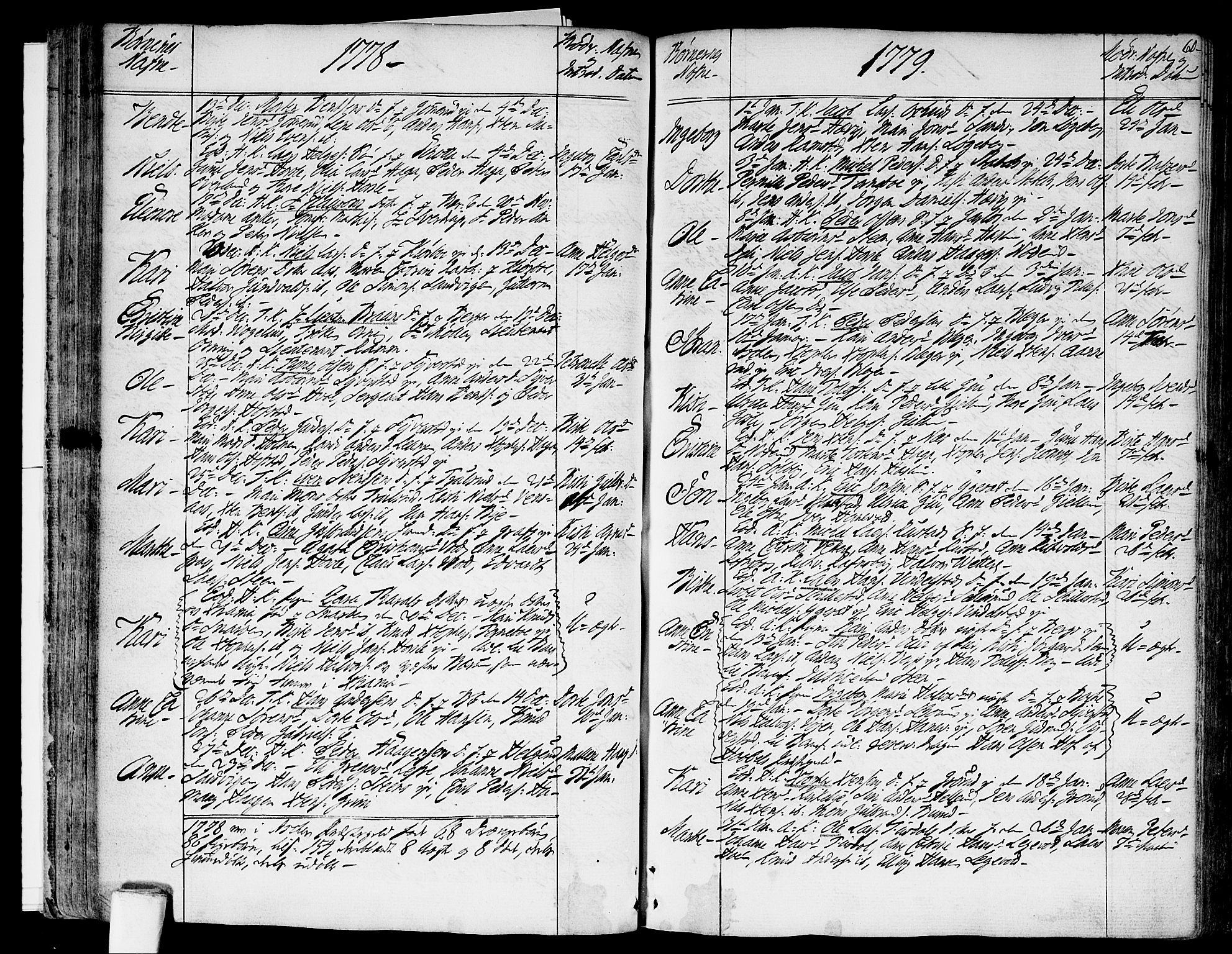 SAO, Asker prestekontor Kirkebøker, F/Fa/L0003: Ministerialbok nr. I 3, 1767-1807, s. 60