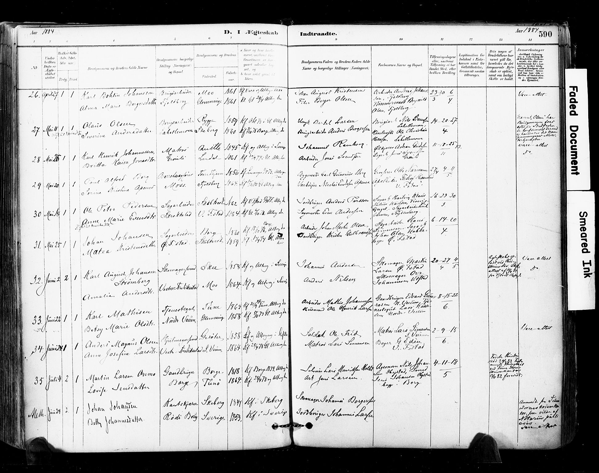 SAO, Glemmen prestekontor Kirkebøker, F/Fa/L0011: Ministerialbok nr. 11, 1878-1917, s. 590
