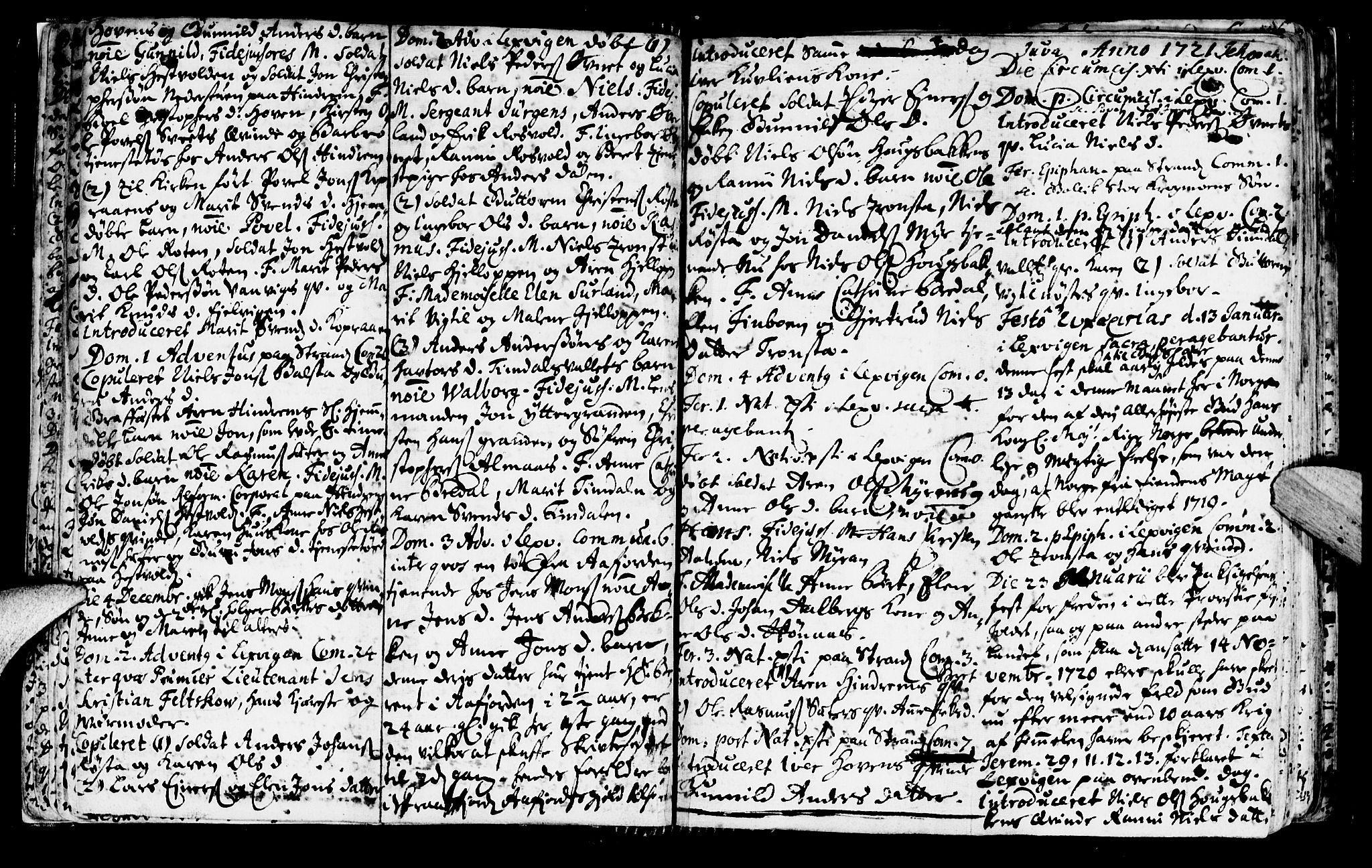 SAT, Ministerialprotokoller, klokkerbøker og fødselsregistre - Nord-Trøndelag, 701/L0001: Ministerialbok nr. 701A01, 1717-1731, s. 13