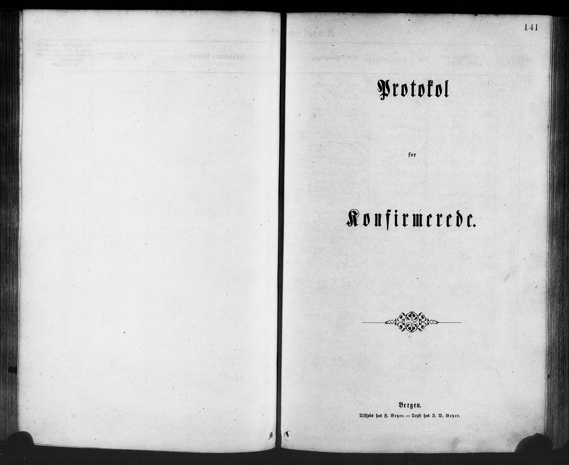 SAB, Manger sokneprestembete, H/Haa: Ministerialbok nr. A 8, 1871-1880, s. 141
