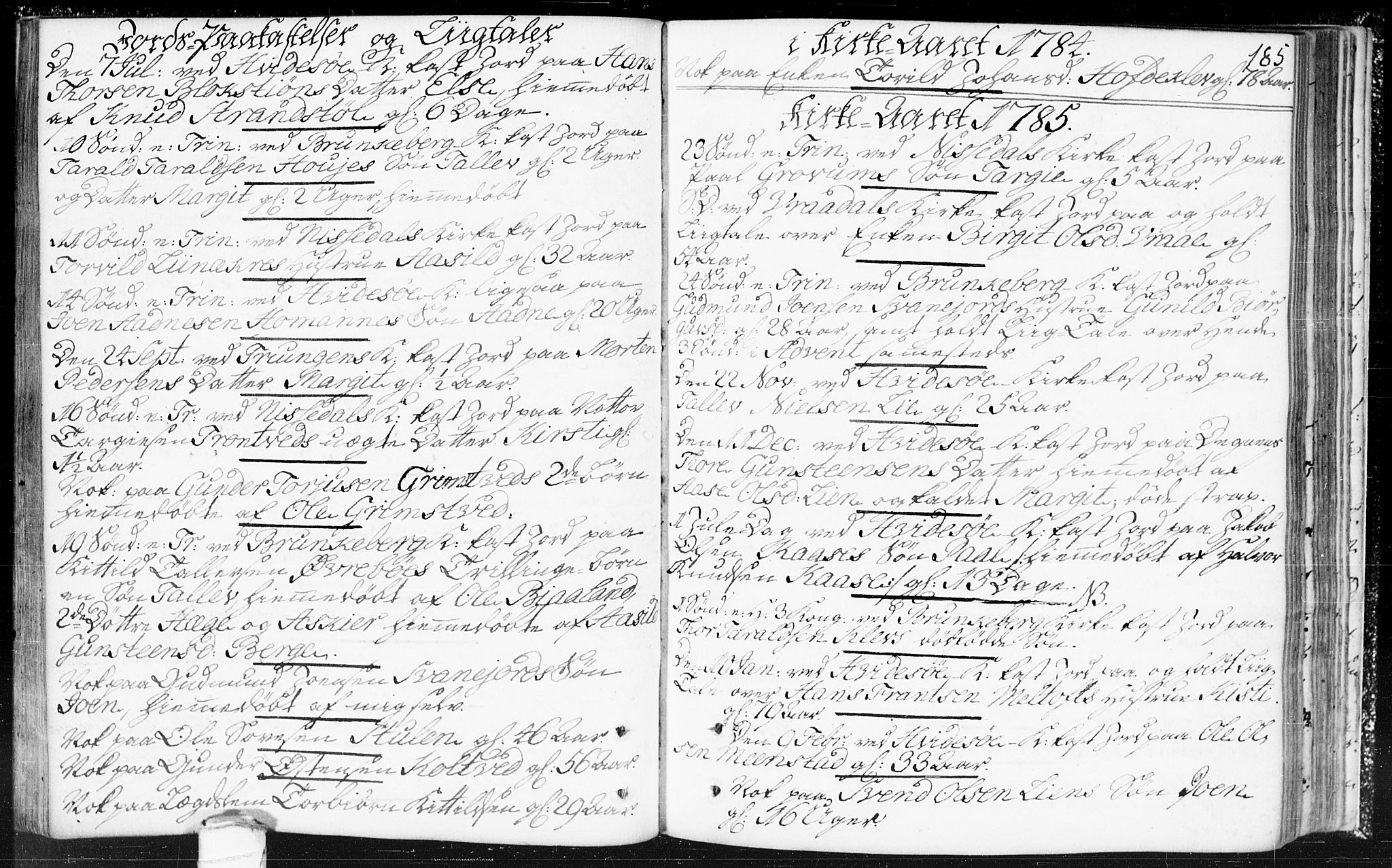 SAKO, Kviteseid kirkebøker, F/Fa/L0002: Ministerialbok nr. I 2, 1773-1786, s. 185