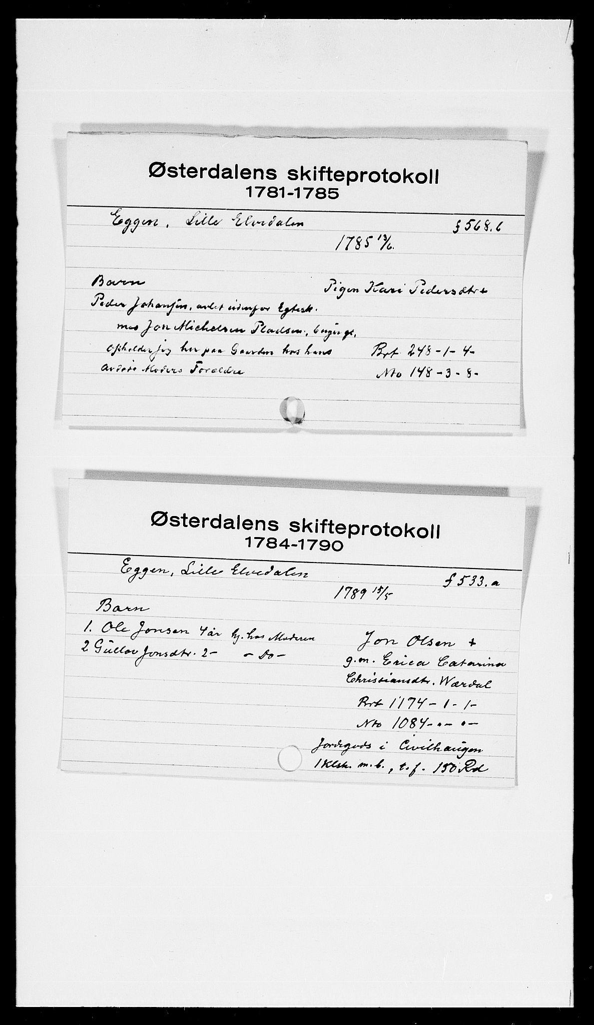 SAH, Østerdalen sorenskriveri, J, 1772-1823, s. 6051