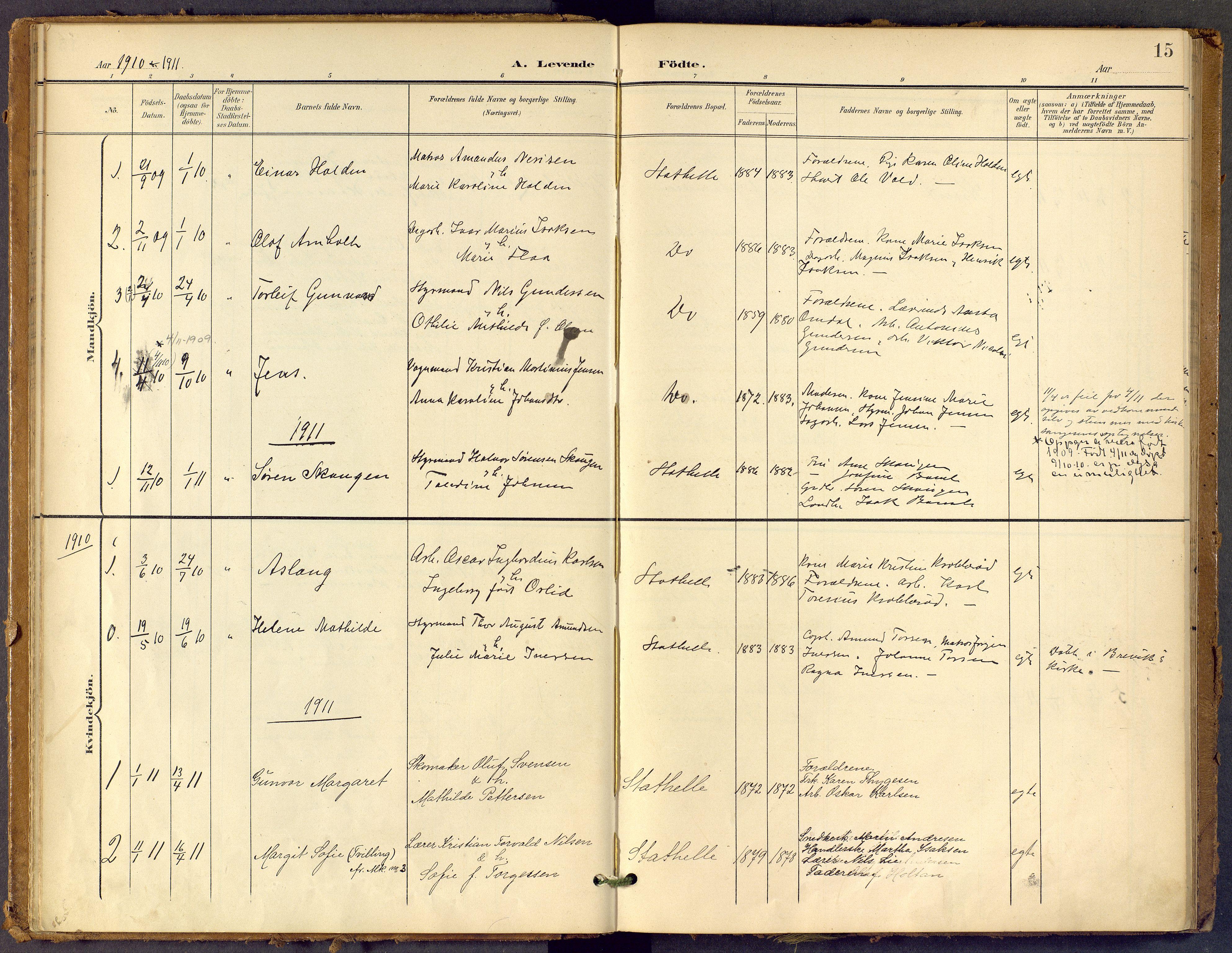 SAKO, Bamble kirkebøker, F/Fb/L0002: Ministerialbok nr. II 2, 1900-1921, s. 15