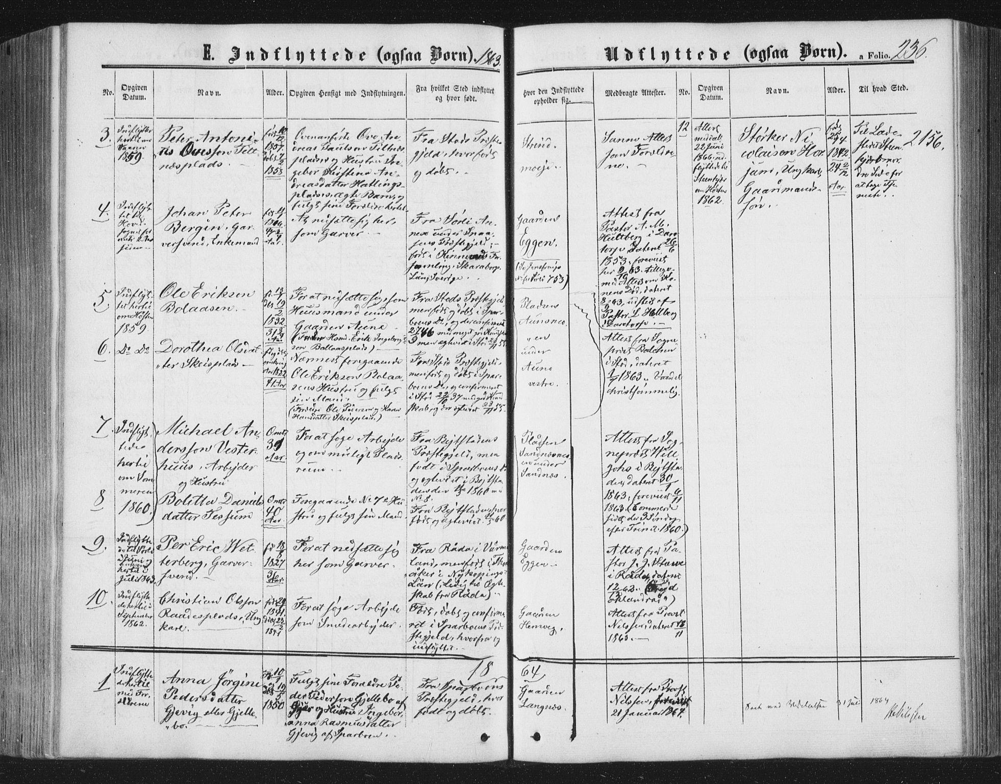 SAT, Ministerialprotokoller, klokkerbøker og fødselsregistre - Nord-Trøndelag, 749/L0472: Ministerialbok nr. 749A06, 1857-1873, s. 236