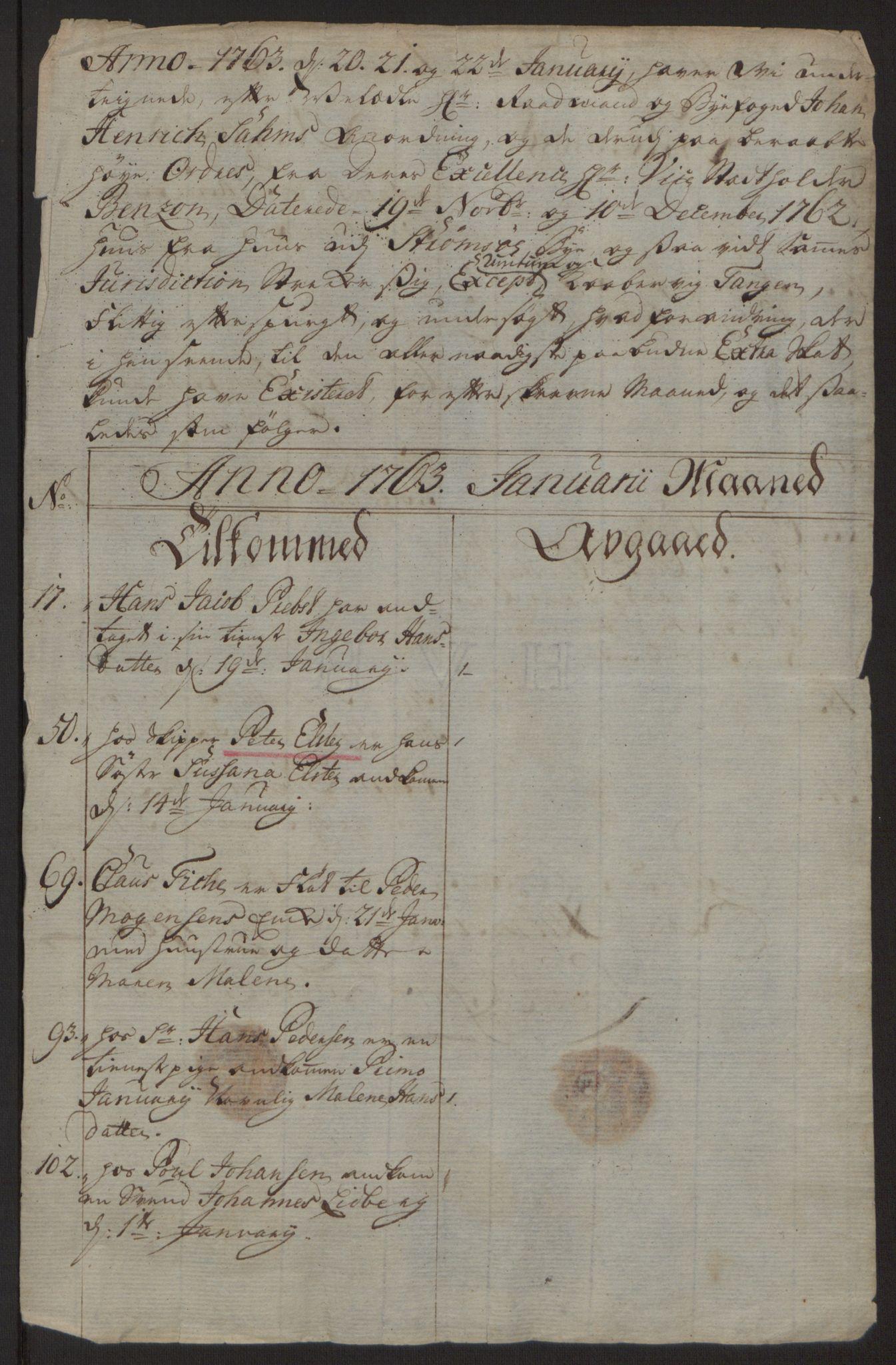 RA, Rentekammeret inntil 1814, Reviderte regnskaper, Byregnskaper, R/Rg/L0144: [G4] Kontribusjonsregnskap, 1762-1767, s. 119