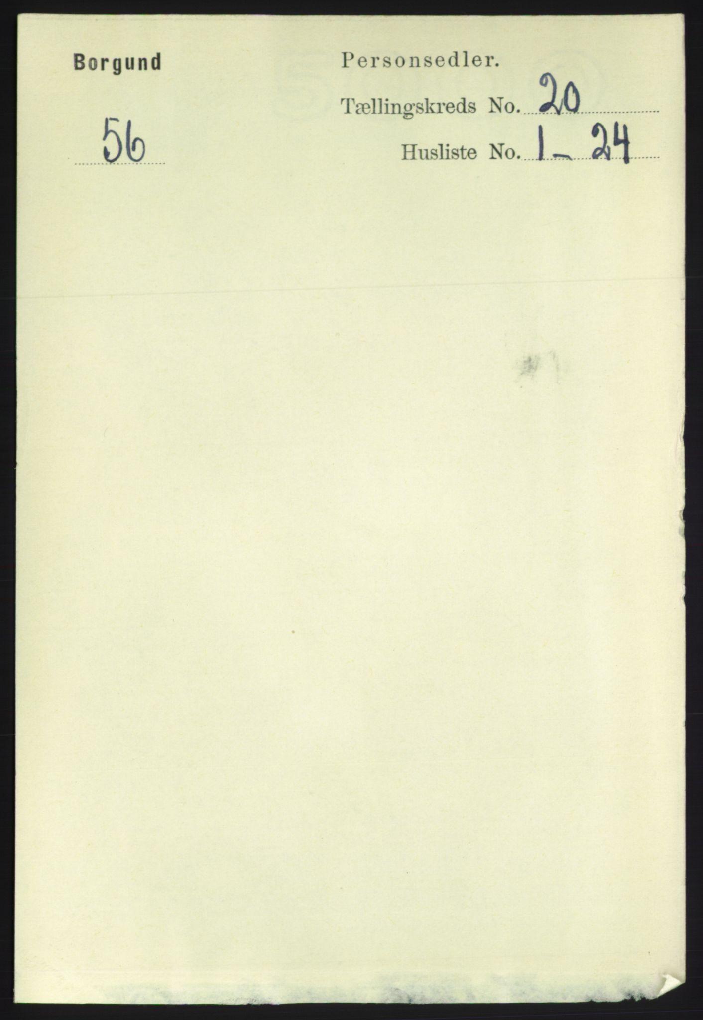 RA, Folketelling 1891 for 1531 Borgund herred, 1891, s. 6109