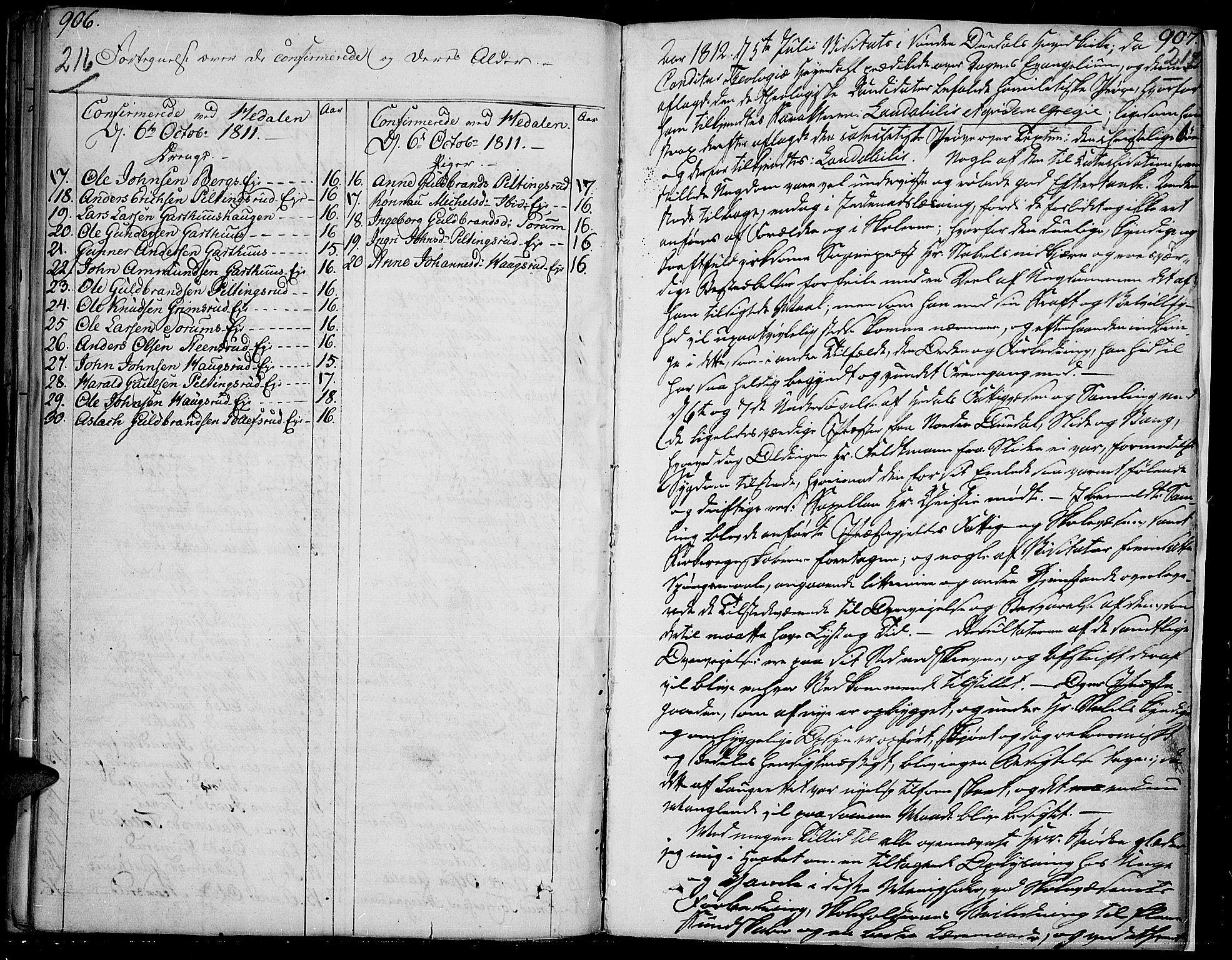 SAH, Sør-Aurdal prestekontor, Ministerialbok nr. 1, 1807-1815, s. 216-217