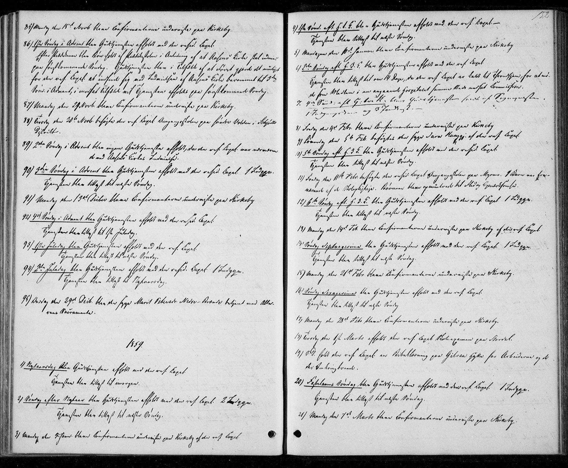 SAT, Ministerialprotokoller, klokkerbøker og fødselsregistre - Nord-Trøndelag, 706/L0040: Ministerialbok nr. 706A01, 1850-1861, s. 152