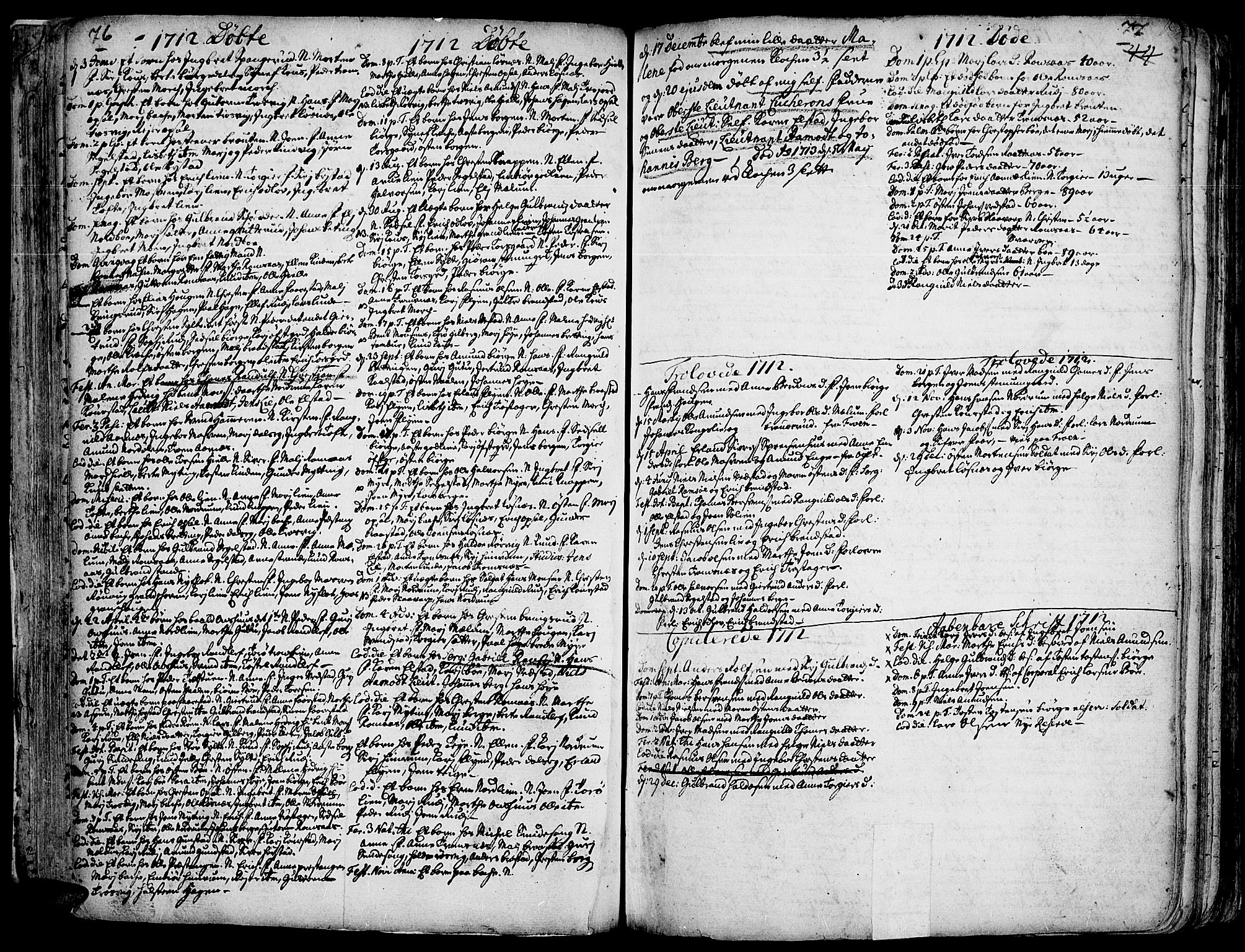 SAH, Ringebu prestekontor, Ministerialbok nr. 1, 1696-1733, s. 76-77