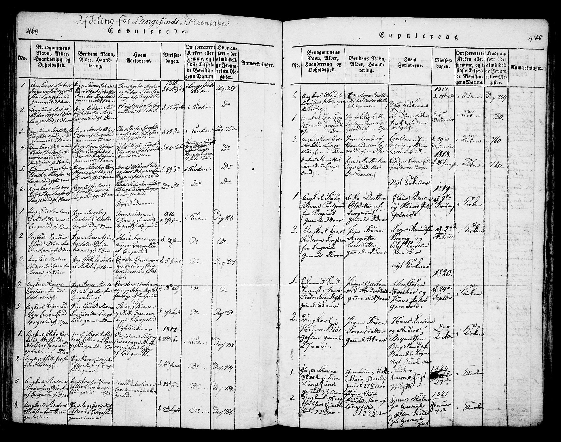 SAKO, Bamble kirkebøker, F/Fa/L0003: Ministerialbok nr. I 3 /2, 1815-1834, s. 469-470
