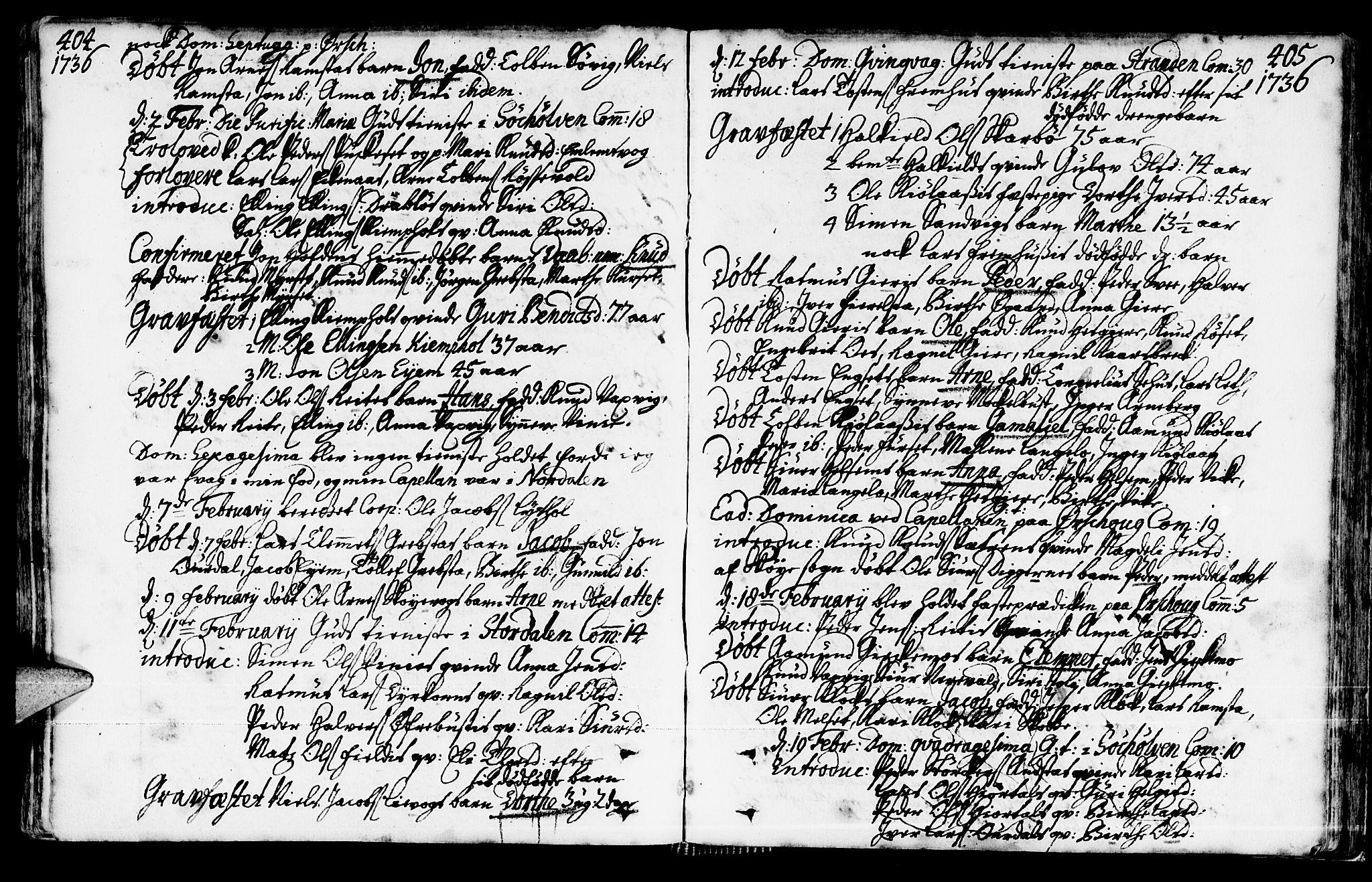 SAT, Ministerialprotokoller, klokkerbøker og fødselsregistre - Møre og Romsdal, 522/L0306: Ministerialbok nr. 522A01, 1720-1743, s. 404-405