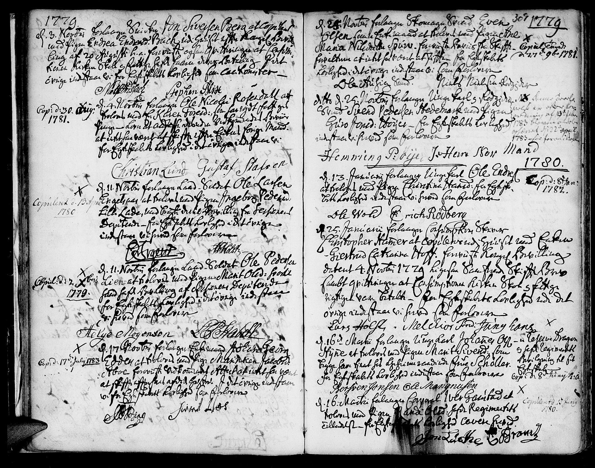 SAT, Ministerialprotokoller, klokkerbøker og fødselsregistre - Sør-Trøndelag, 601/L0038: Ministerialbok nr. 601A06, 1766-1877, s. 309