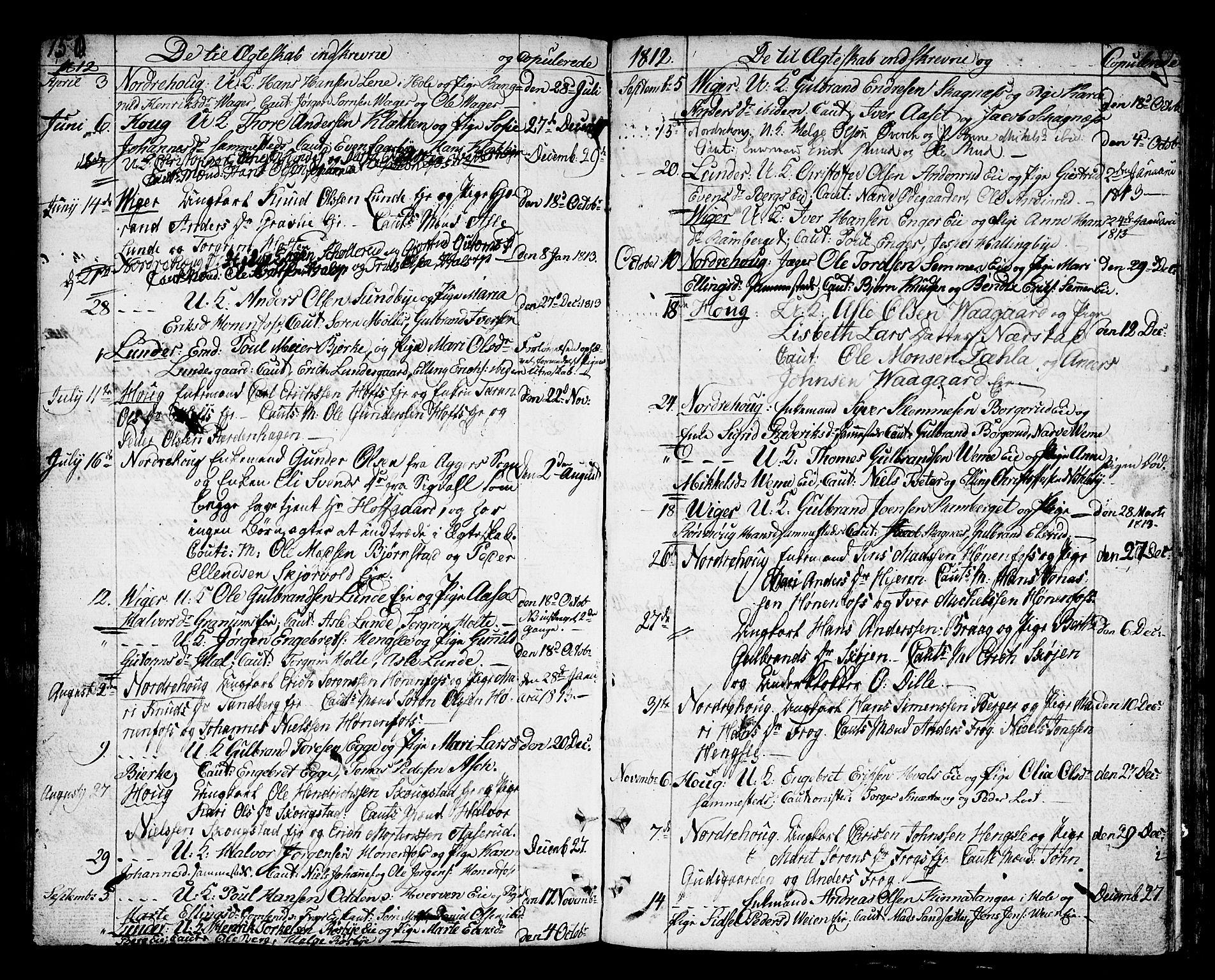 SAKO, Norderhov kirkebøker, F/Fa/L0007: Ministerialbok nr. 7, 1812-1814, s. 150