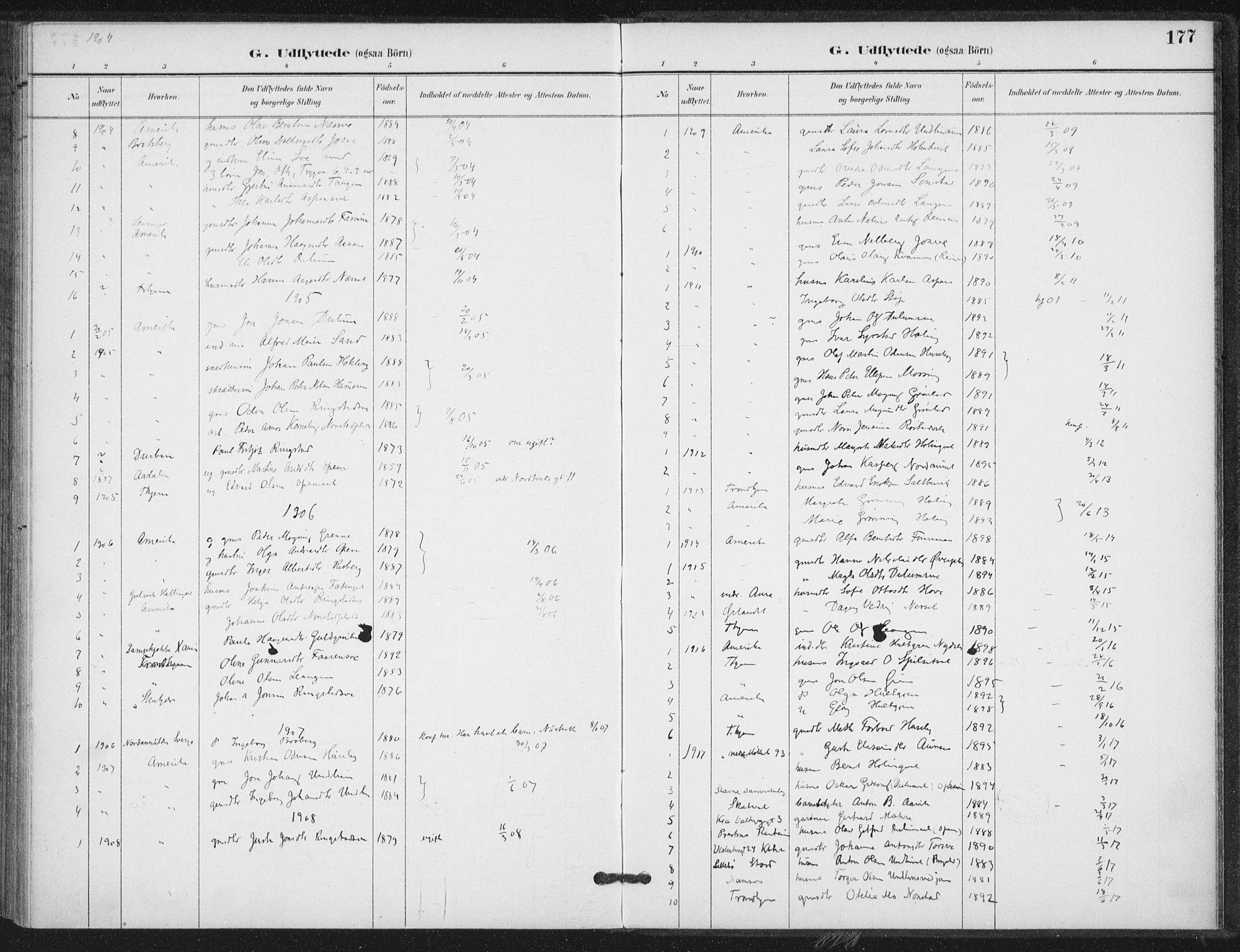 SAT, Ministerialprotokoller, klokkerbøker og fødselsregistre - Nord-Trøndelag, 714/L0131: Ministerialbok nr. 714A02, 1896-1918, s. 177