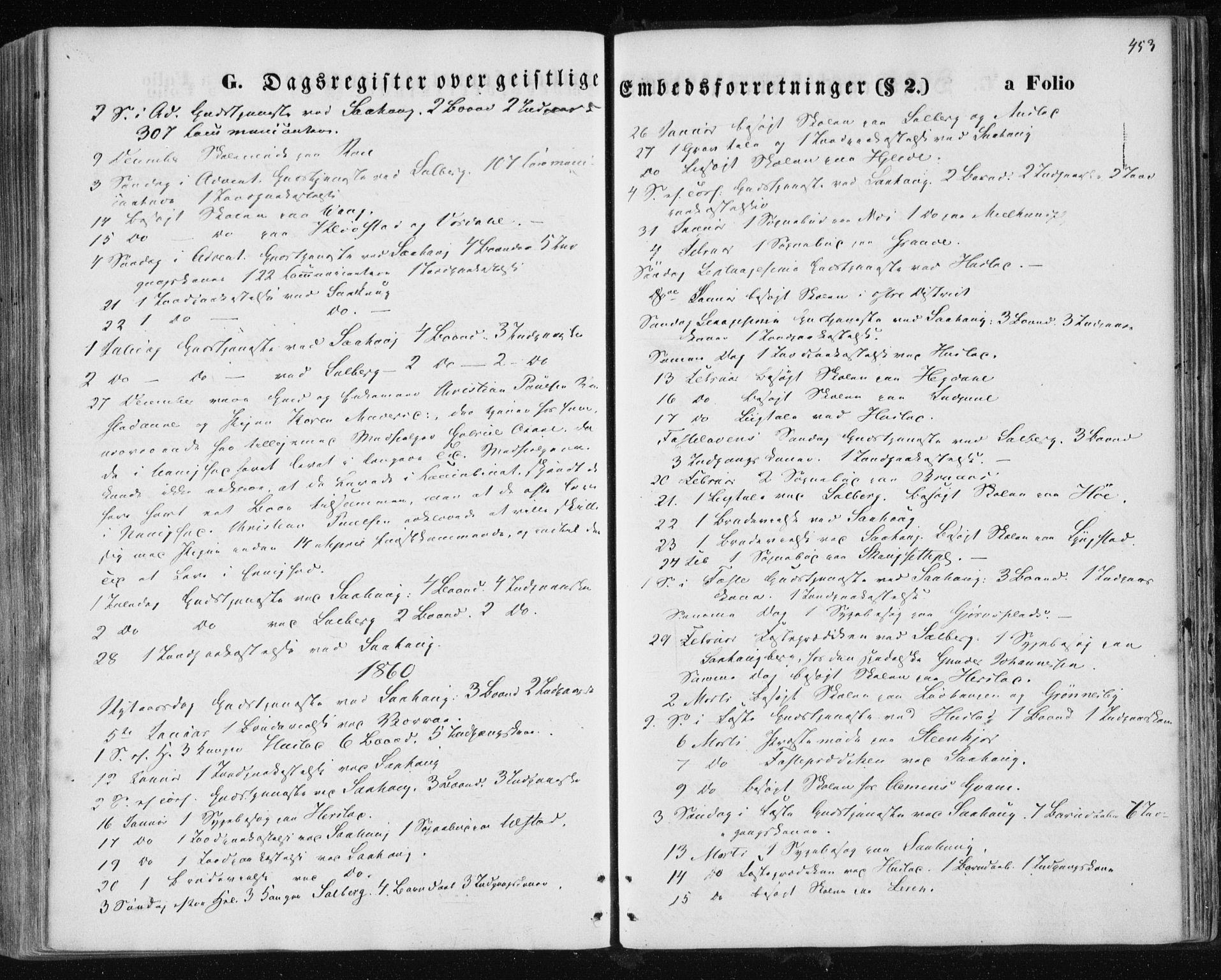 SAT, Ministerialprotokoller, klokkerbøker og fødselsregistre - Nord-Trøndelag, 730/L0283: Ministerialbok nr. 730A08, 1855-1865, s. 453