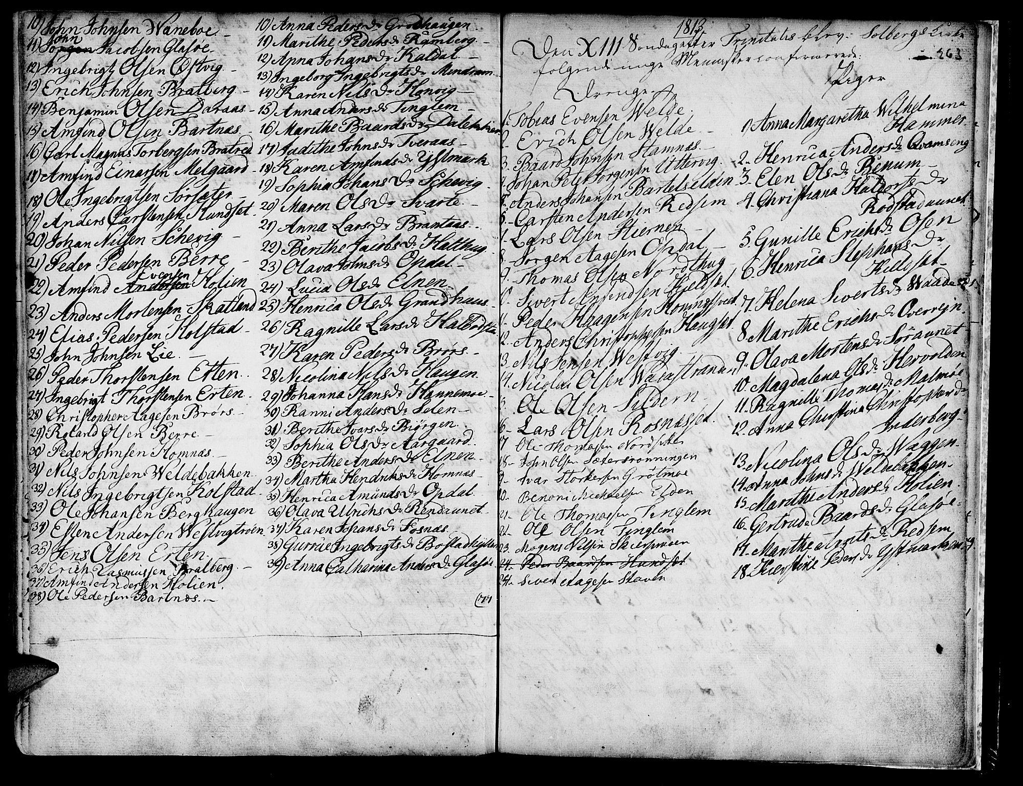 SAT, Ministerialprotokoller, klokkerbøker og fødselsregistre - Nord-Trøndelag, 741/L0385: Ministerialbok nr. 741A01, 1722-1815, s. 263