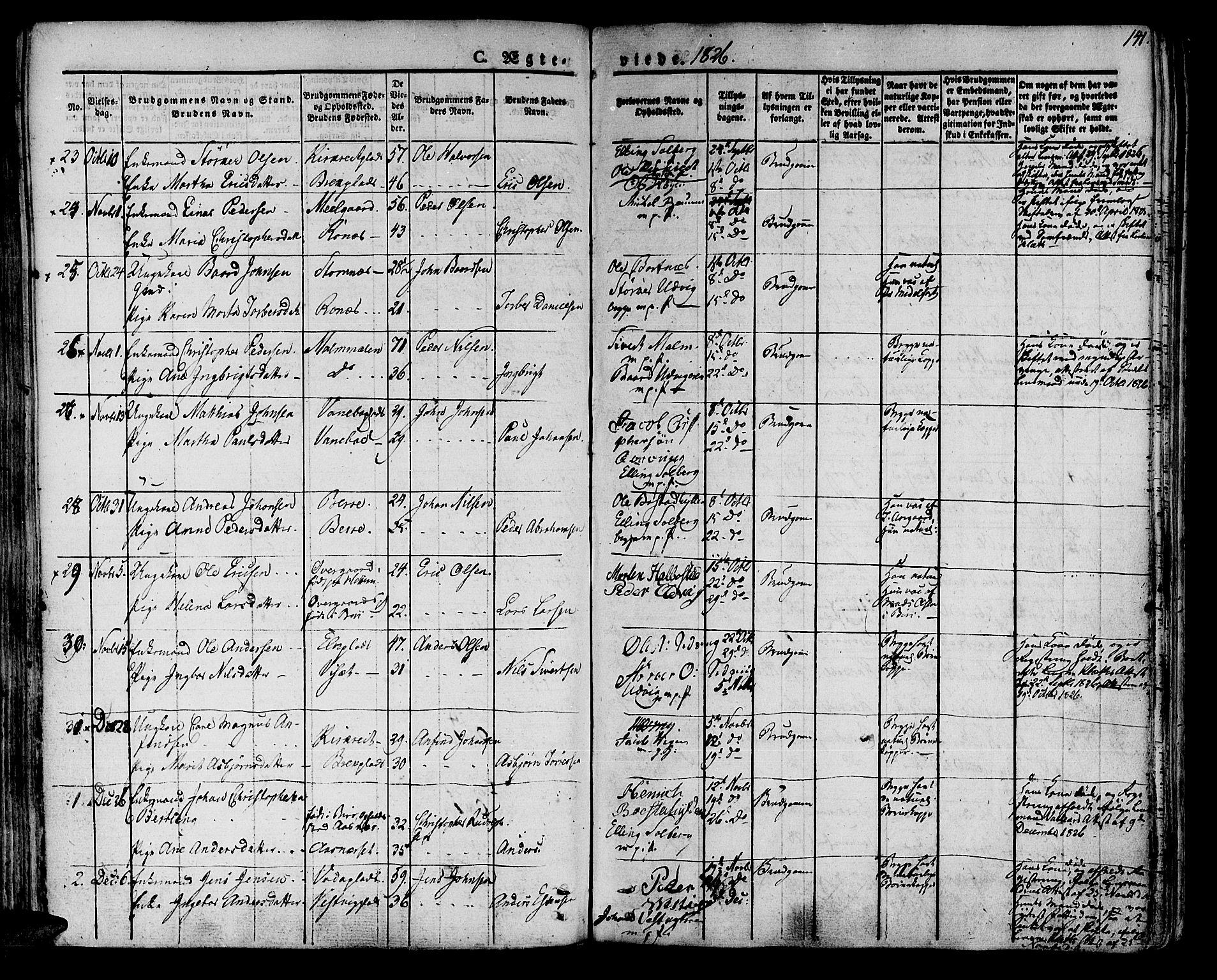 SAT, Ministerialprotokoller, klokkerbøker og fødselsregistre - Nord-Trøndelag, 741/L0390: Ministerialbok nr. 741A04, 1822-1836, s. 141