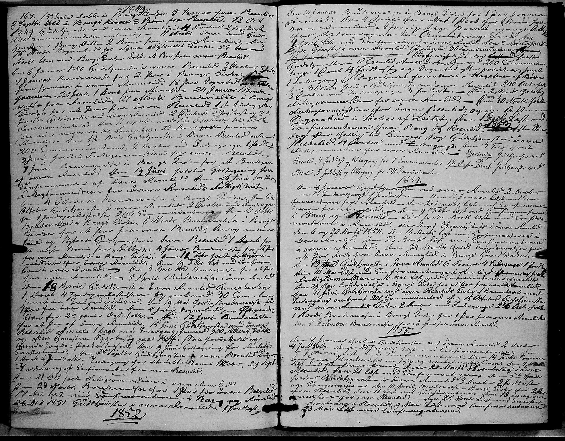 SAH, Sør-Aurdal prestekontor, Ministerialbok nr. 6, 1849-1876, s. 167