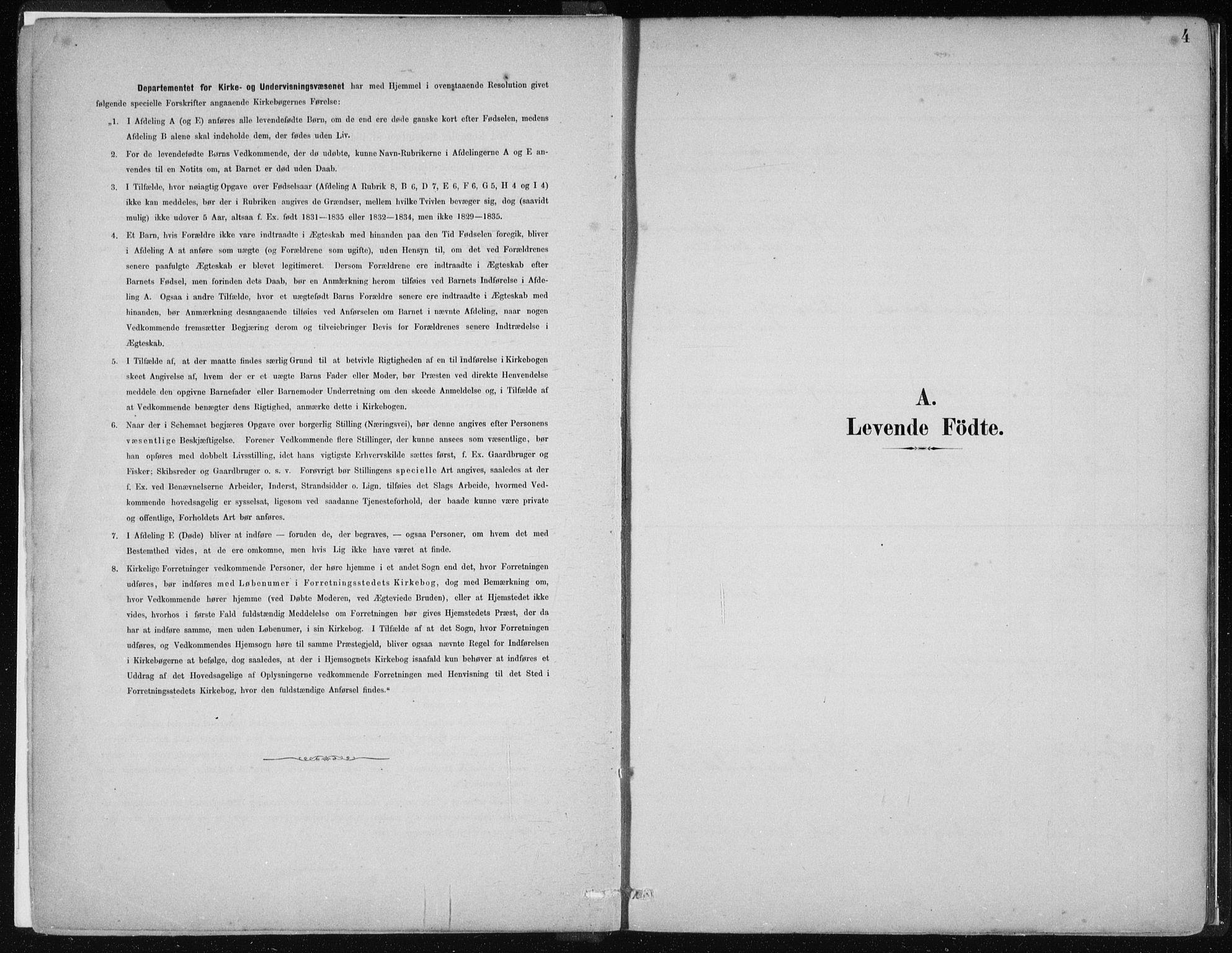 SAB, Hamre Sokneprestembete, H/Haa: Ministerialbok nr. D  1, 1882-1906, s. 4